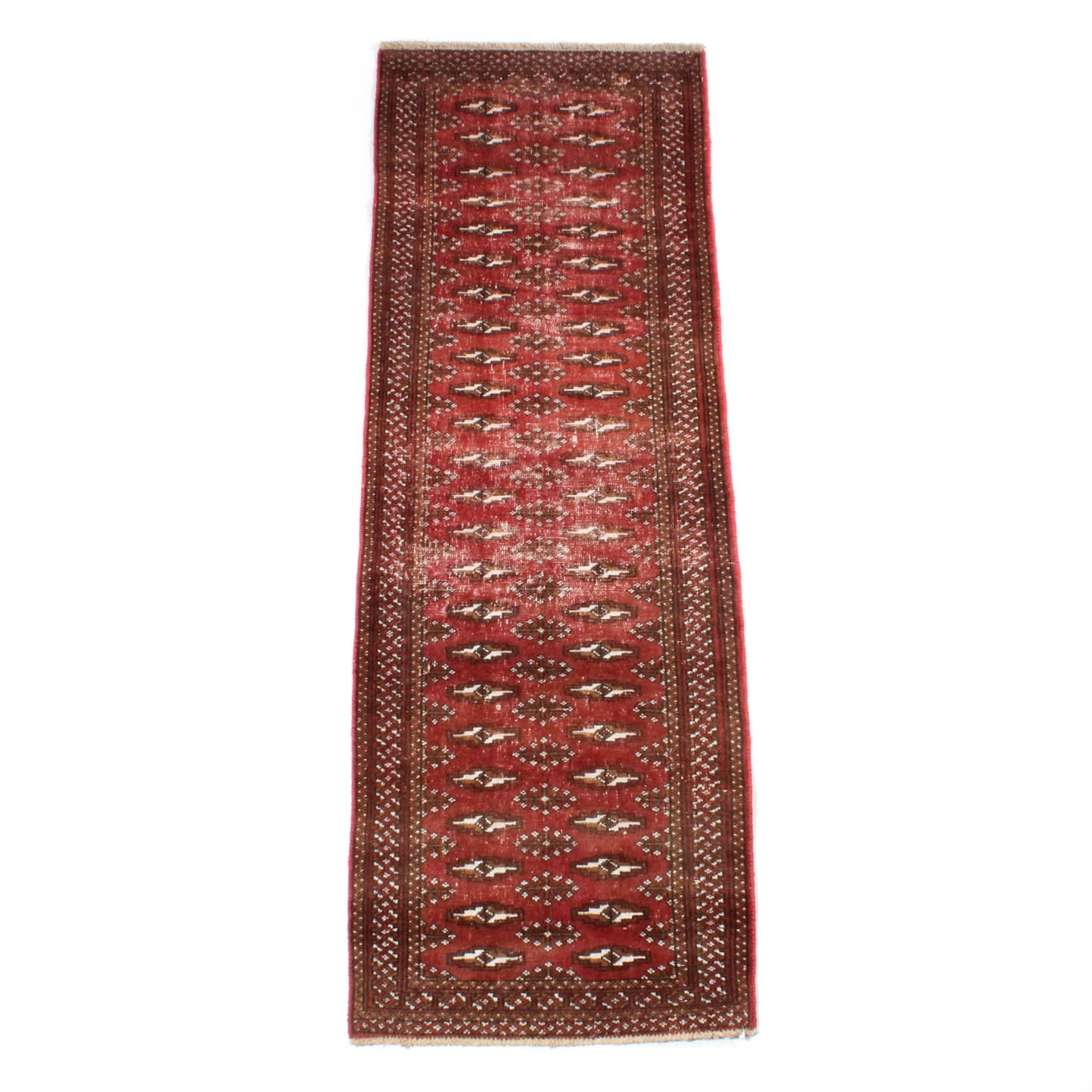 6' x 2' Vintage Hand-Knotted Persian Turkmen Rug Runner