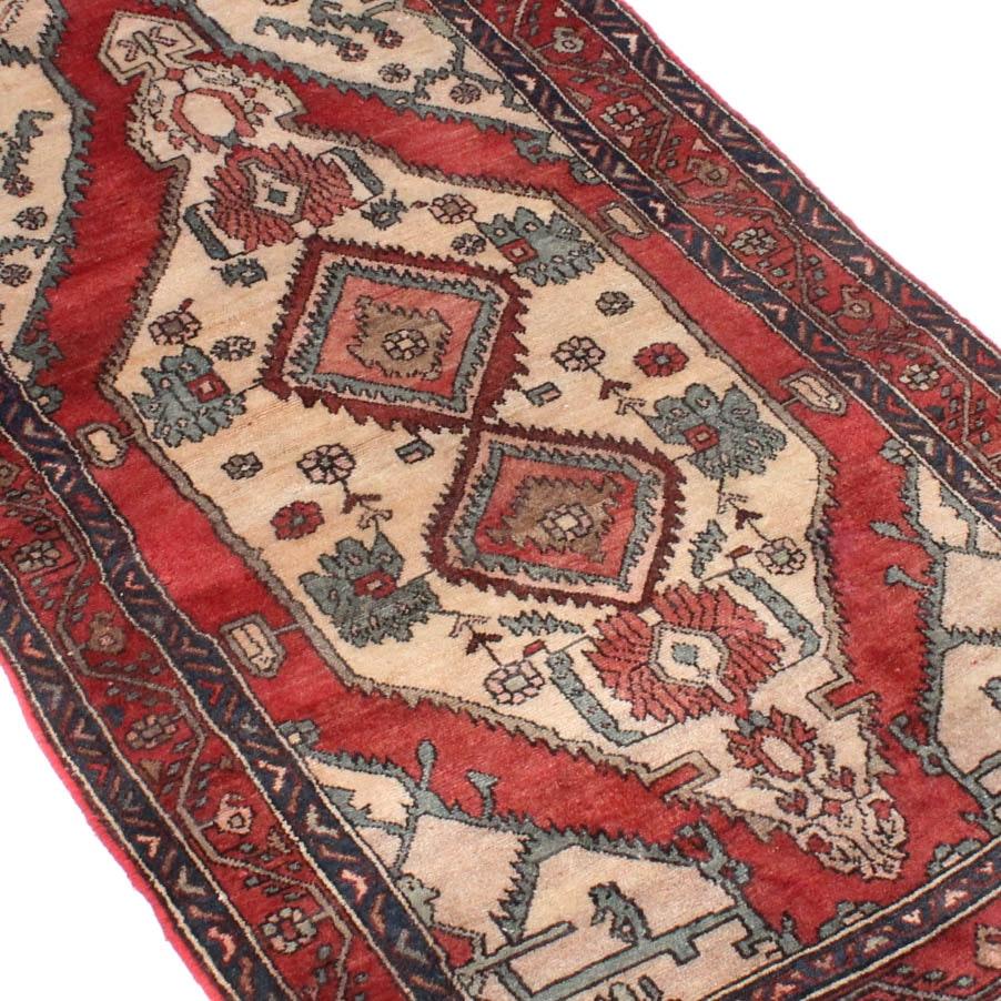 3' x 7' Vintage Hand-Knotted Persian Bijar Area Rug