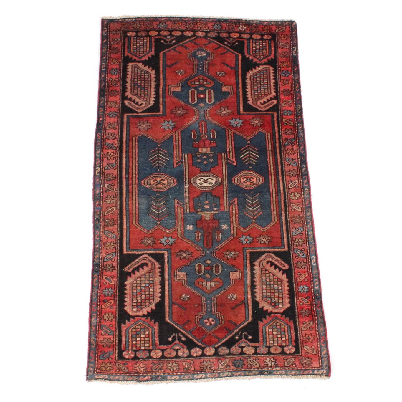 4' x 6' Vintage Hand-Knotted Persian Karaja Heriz Accent Rug