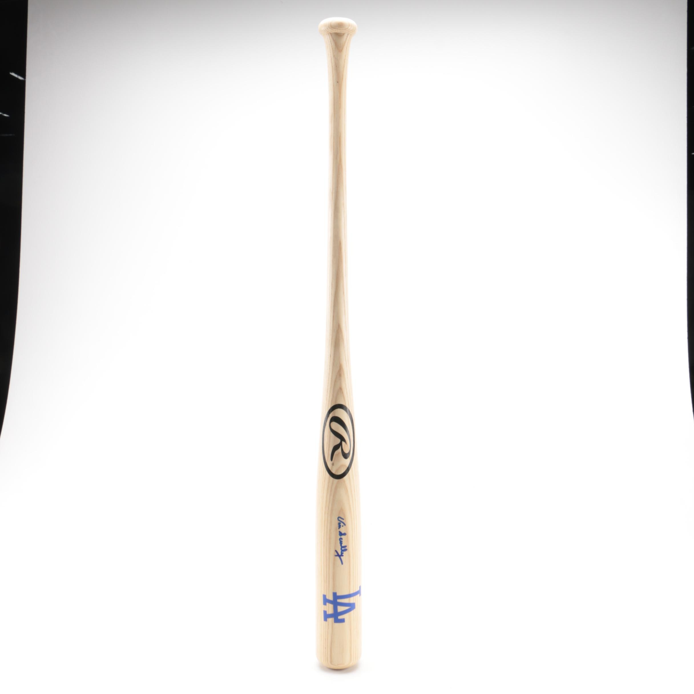 Vin Scully Autographed Rawlings Los Angeles Dodgers Baseball Bat