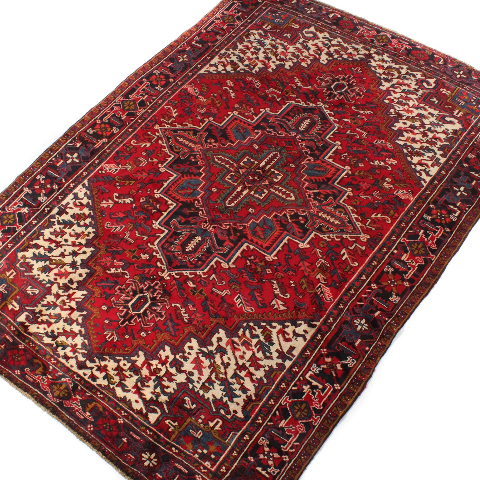 7' x 11' Hand-Knotted Persian Heriz Serapi Room Size Rug