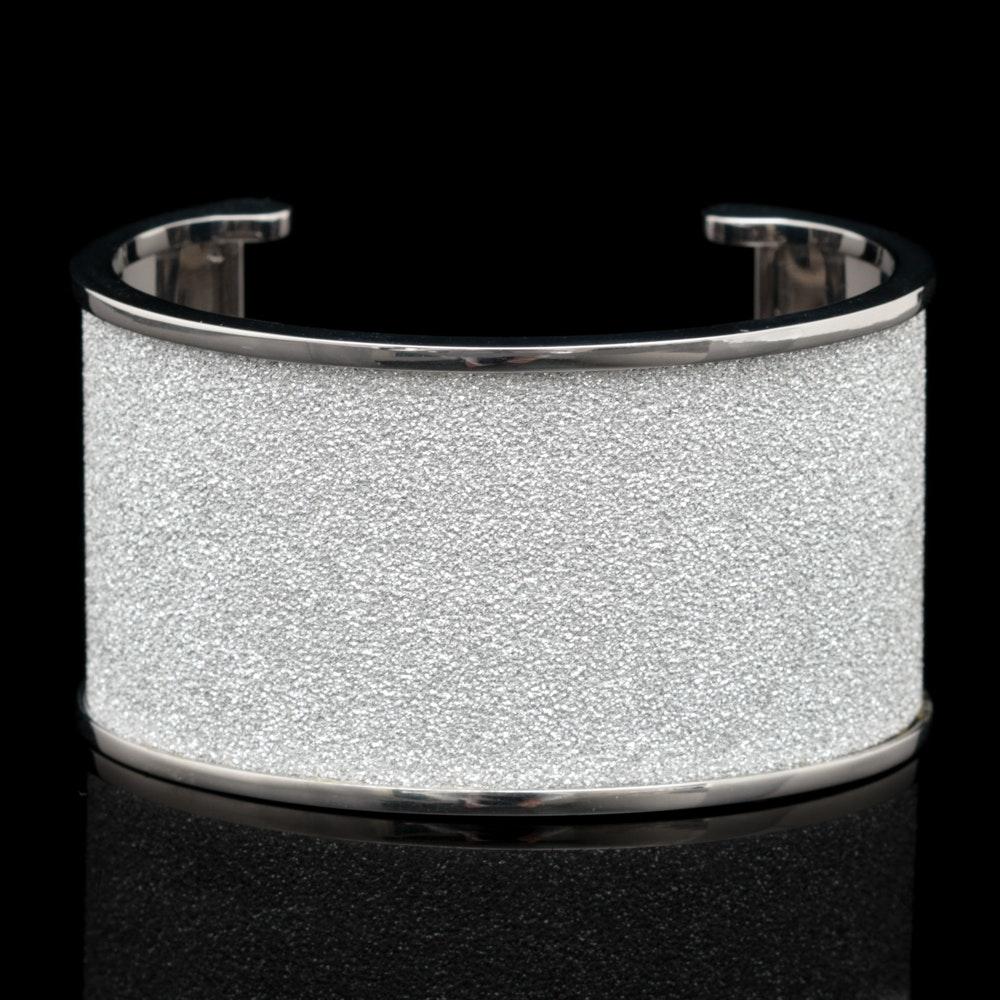 Rebecca Silver Tone Bronze and Crystal Cuff Bracelet