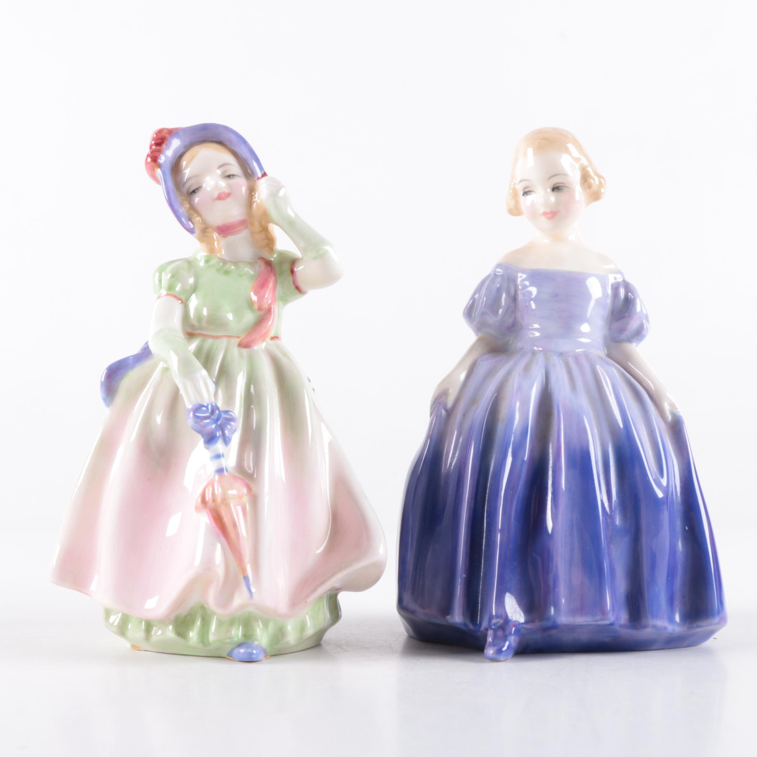 """Royal Doulton """"Babie"""" and """"Marie"""" Figurines"""