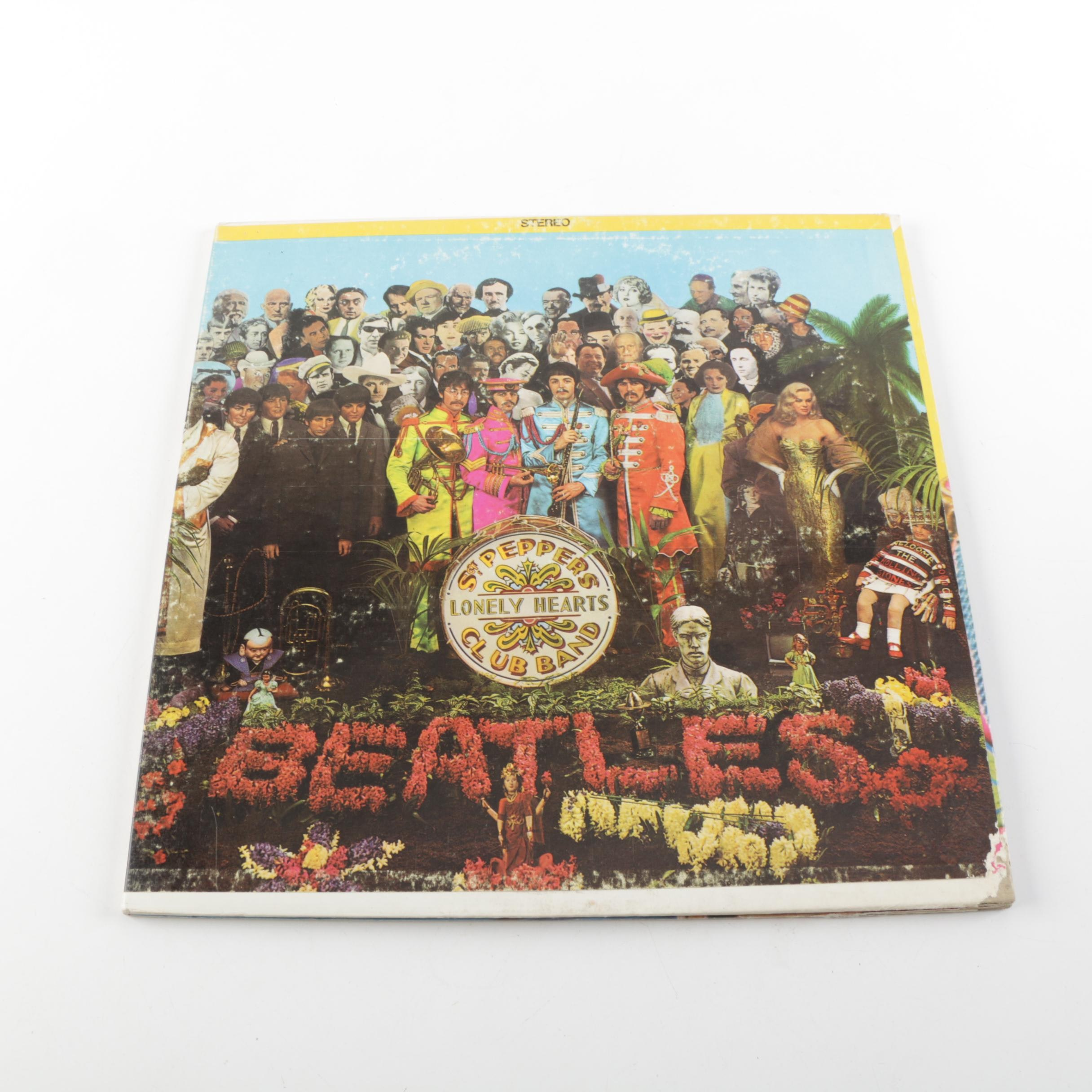 """The Beatles """"Sgt. Pepper"""" Winchester Stereo Record Pressing with Insert"""