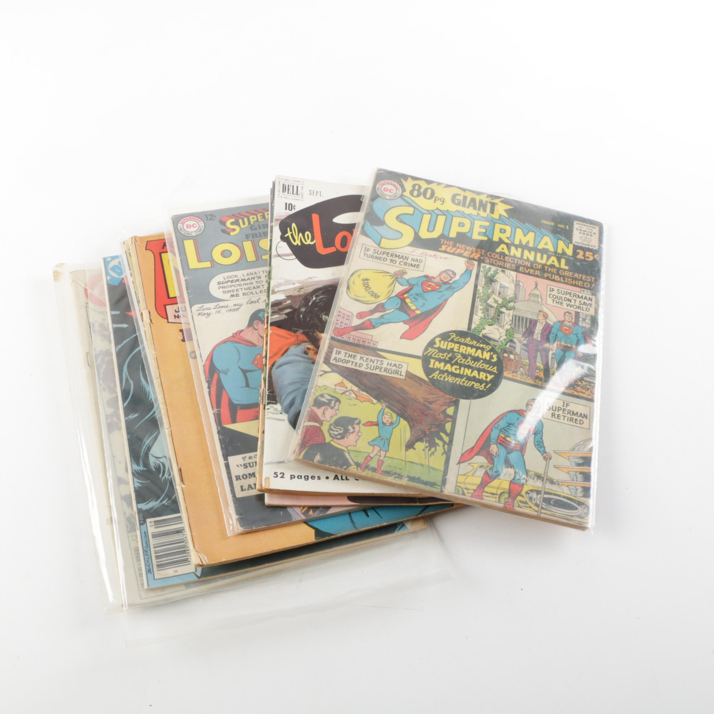 """Assorted Silver Age Comics Featuring """"Superman Annual"""" Issue 1"""