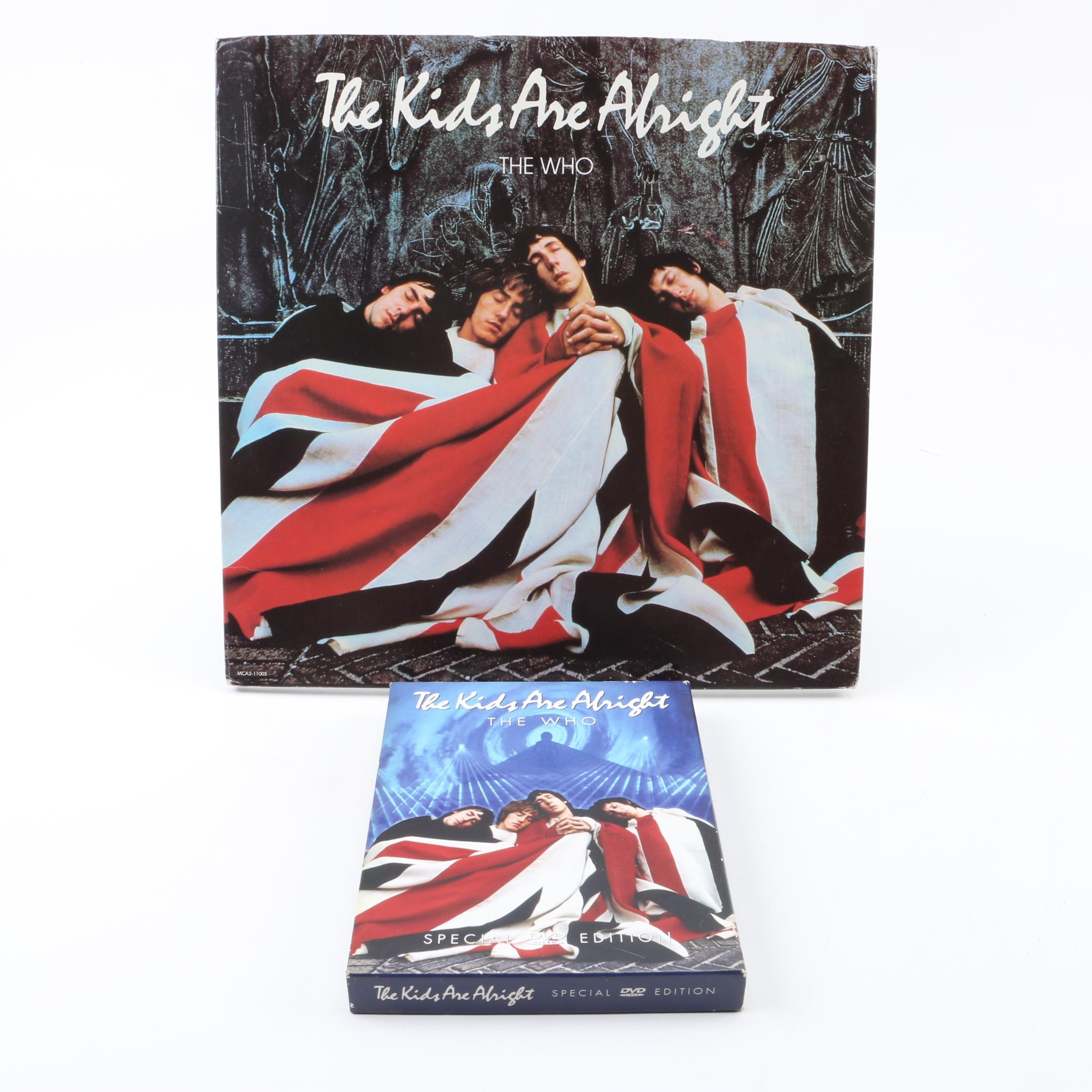 """The Who """"The Kids Are Alright"""" Soundtrack Record with Special Edition DVD"""