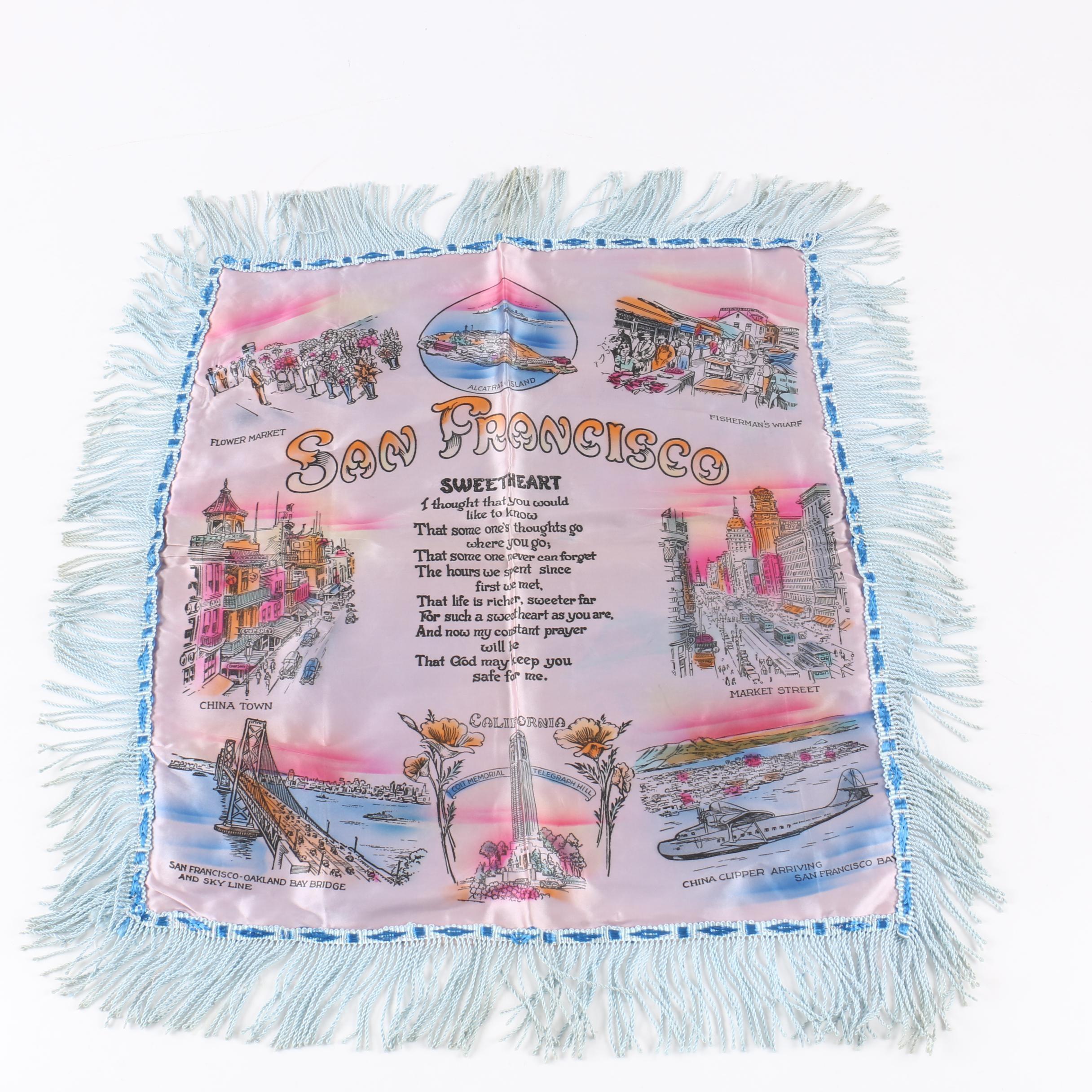 Vintage San Francisco Souvenir Pillow Cover