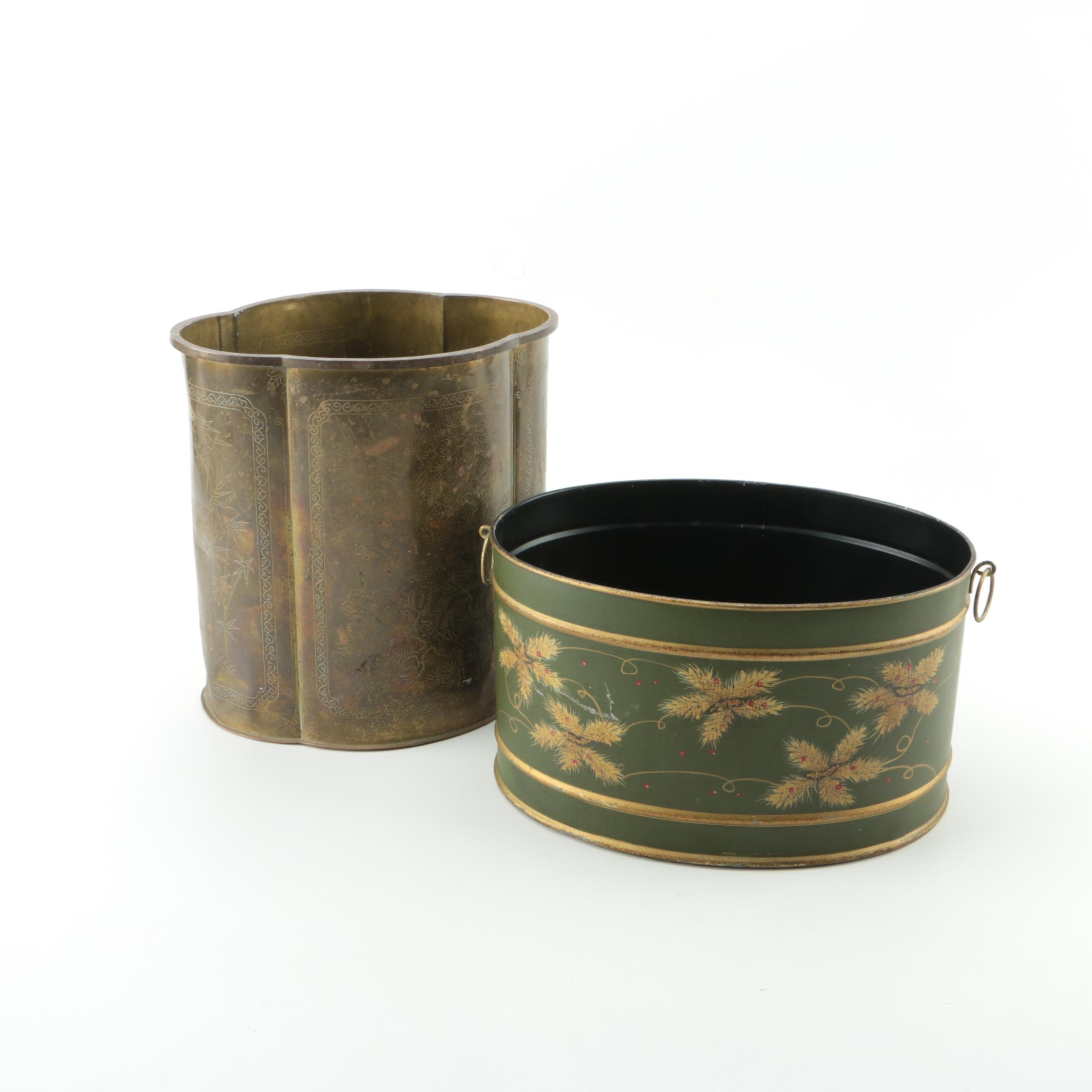 Decorative Brass Bins