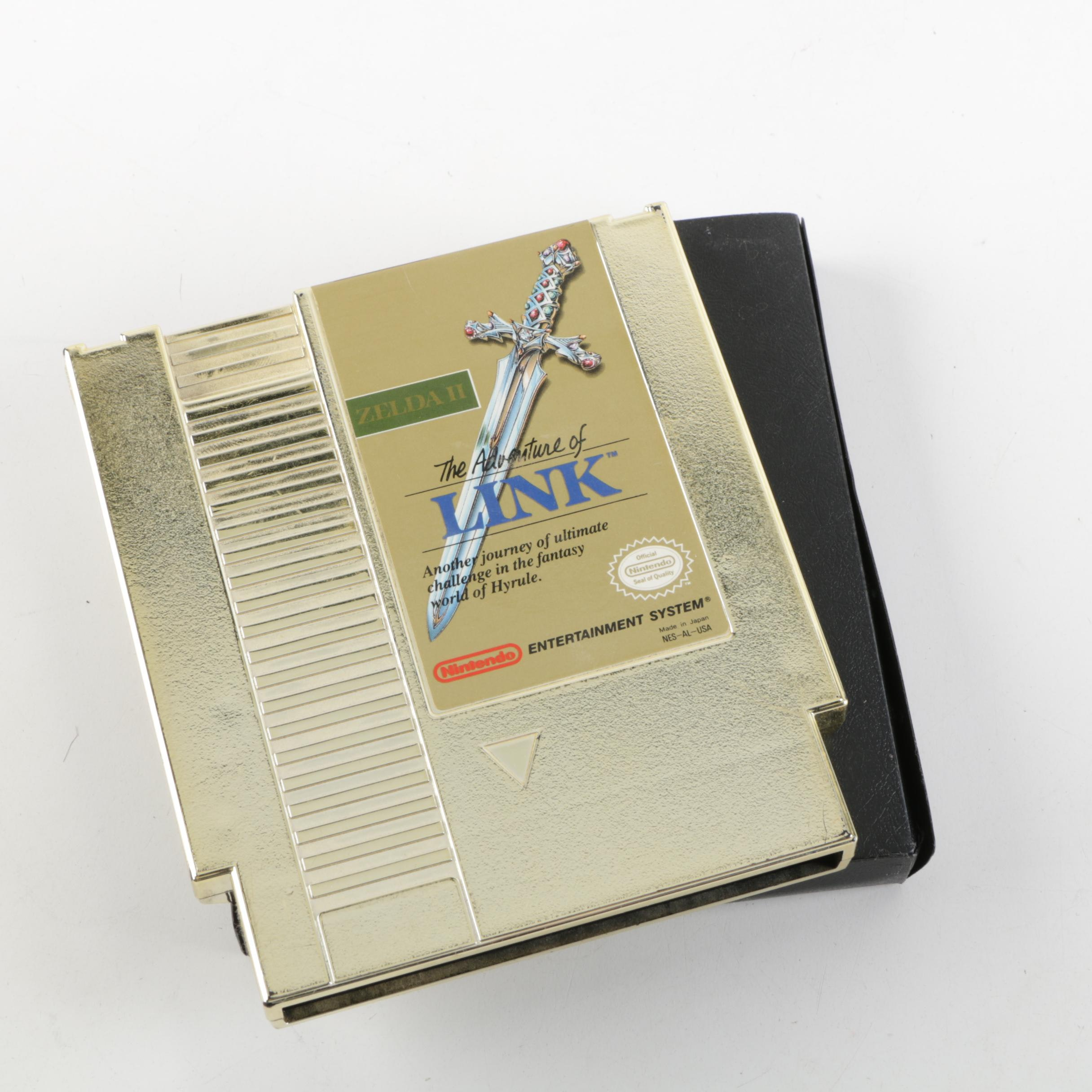 """Legend of Zelda II"" Nintendo NES Game Cartridge"