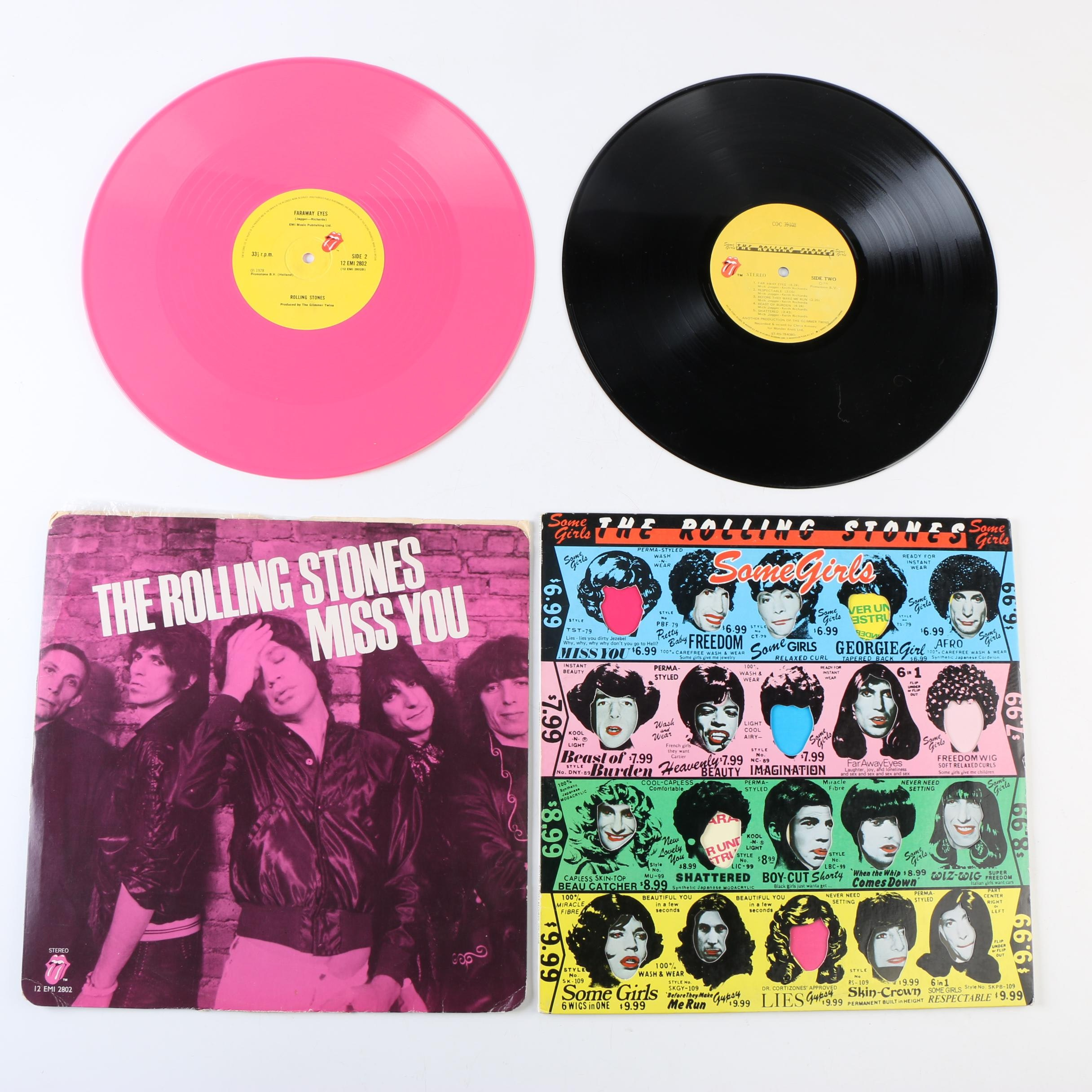 """The Rolling Stones Records Including """"Some Girls"""" and """"Miss You"""" on Pink Vinyl"""