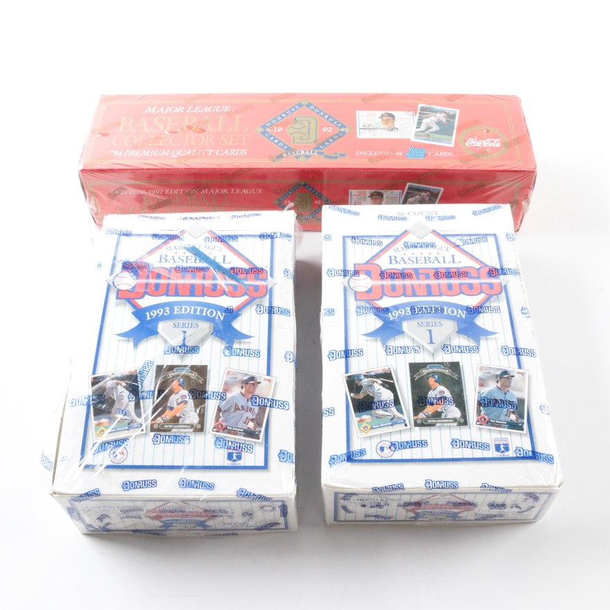 1992 And 1993 Donruss Baseball Cards