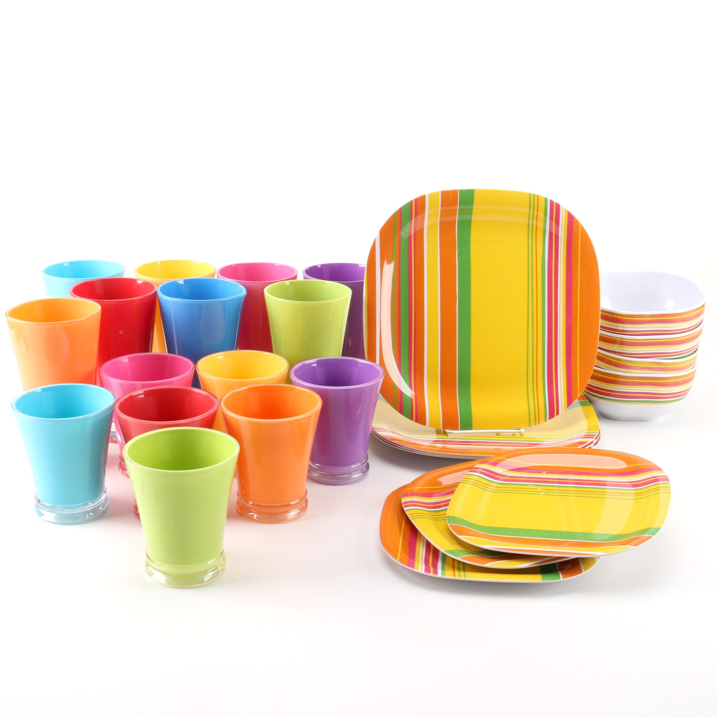 Precidio Tableware and Colorful Tumblers ...  sc 1 st  EBTH.com : precidio dinnerware - pezcame.com