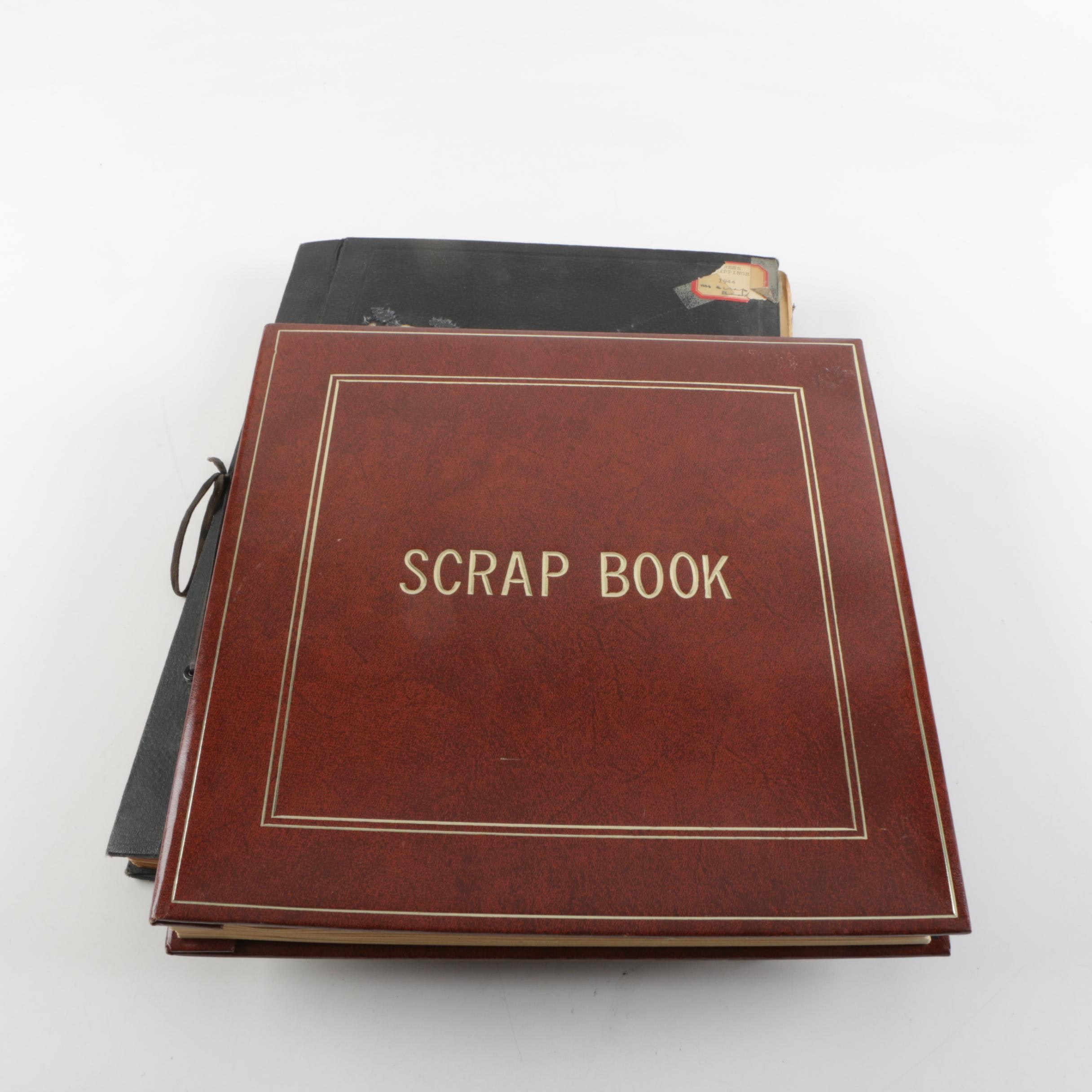 Pair of 1940s Era Scrapbooks with Celebrities and Cultural News Clippings