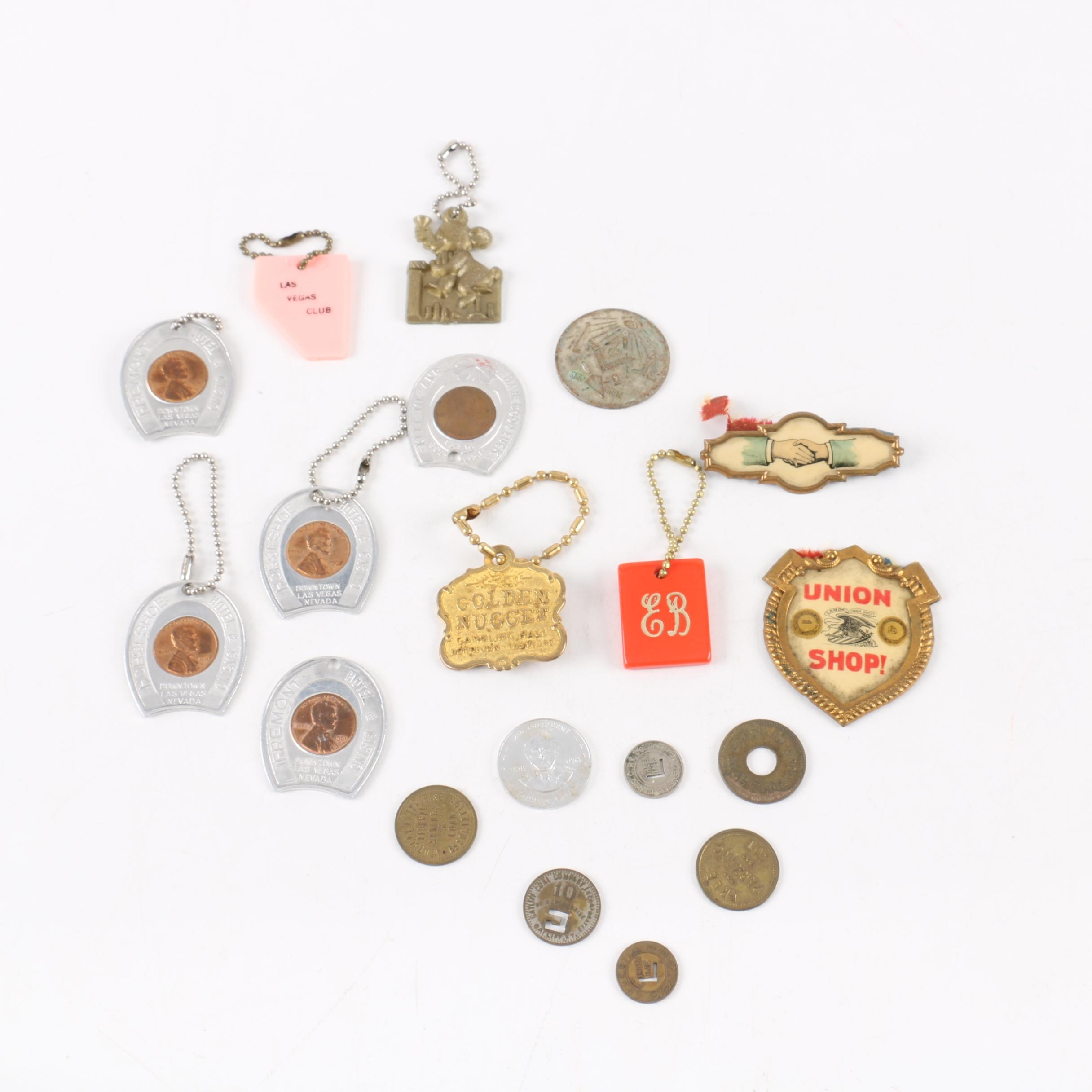 Vintage Tokens, Medals and Key Tags