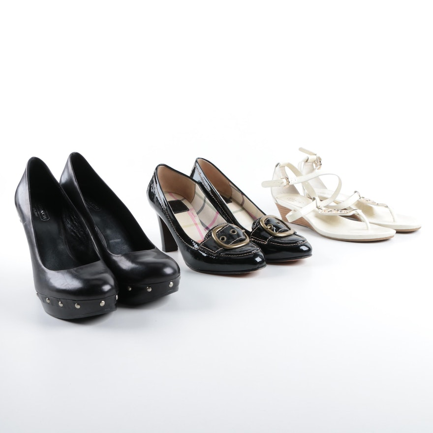 72cc7df9 Group of Women's Coach Leather Shoes Including Hillory and Carli Styles ...