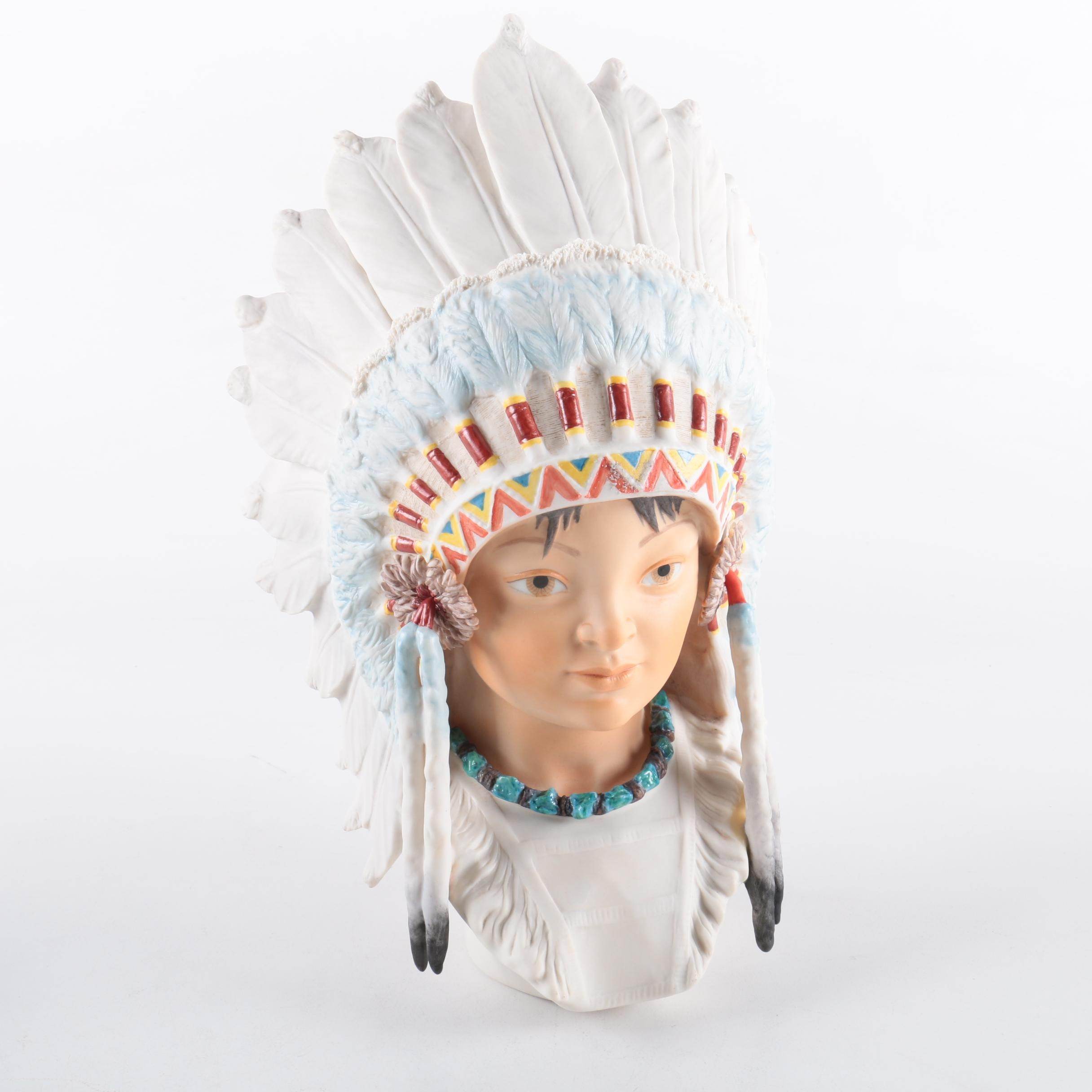 "Cybis ""Little Eagle"" Bisque Porcelain Bust"