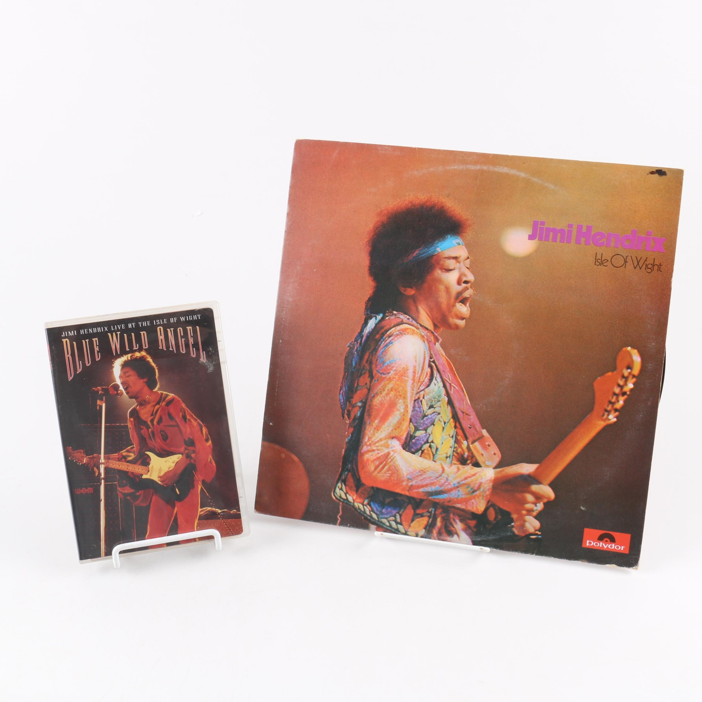 "Jimi Hendrix ""Isle Of Wight"" UK Record Pressing and ""Blue Wild Angel"" DVD"