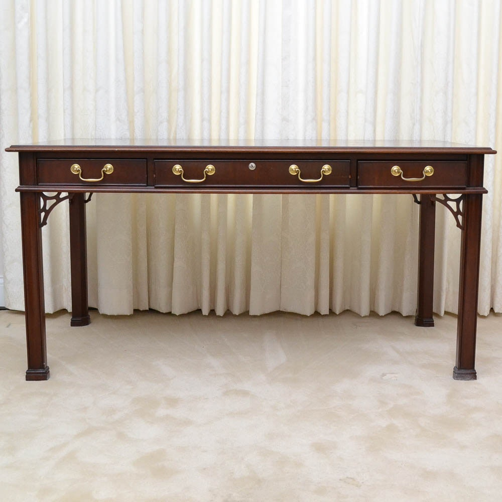 Chippendale Style Mahogany Writing Desk