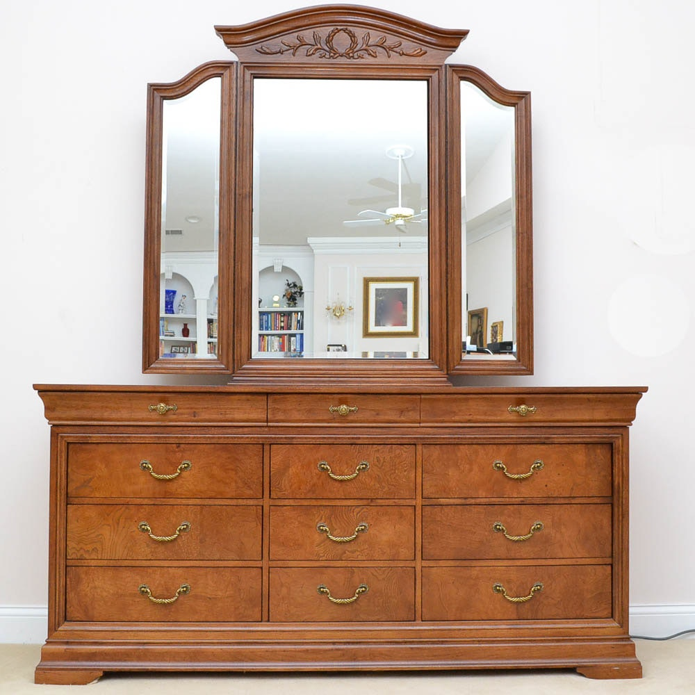 Triple Dresser and Mirror by Thomasville