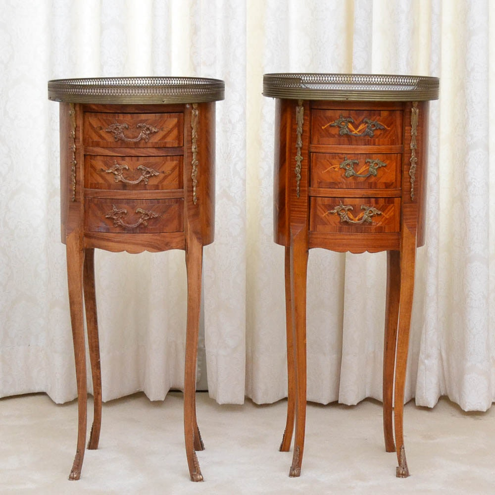 Pair of French Louis XV-Style Accent Tables