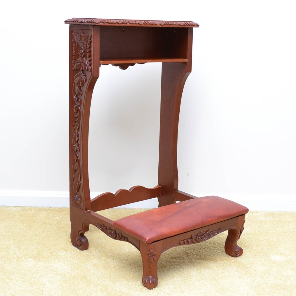 Victorian Style Prayer Bench