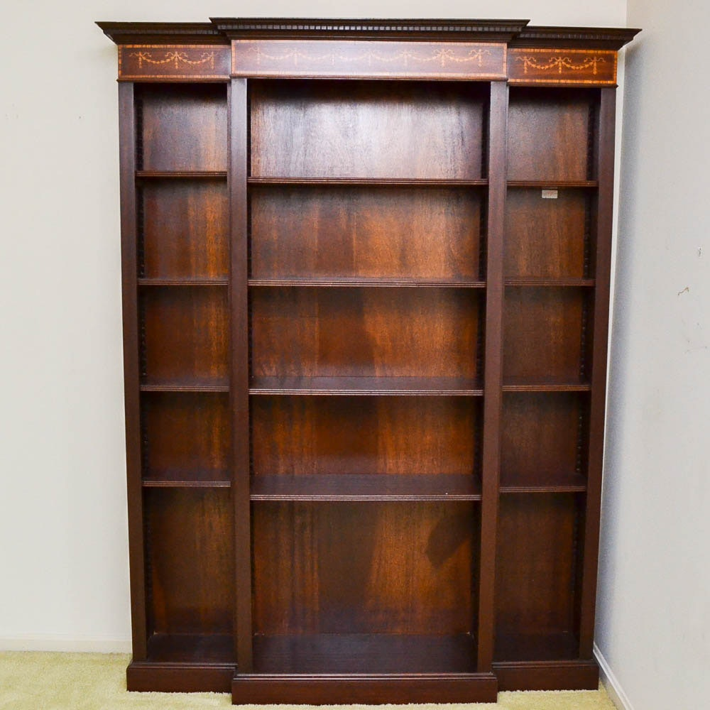 Neoclassical Style Breakfront Bookcase