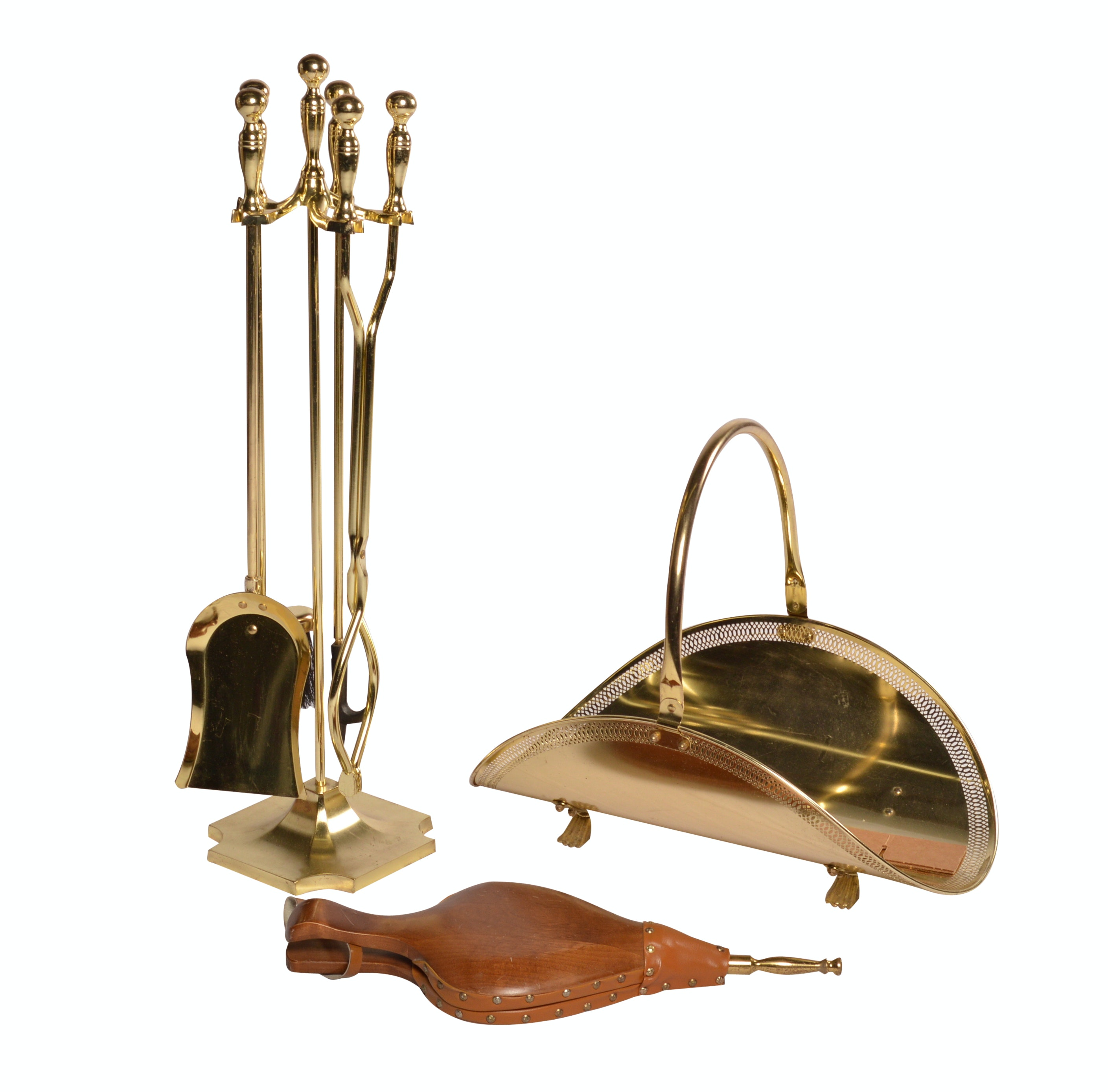 Fireplace Tools with Stand, Log Holder and Bellows