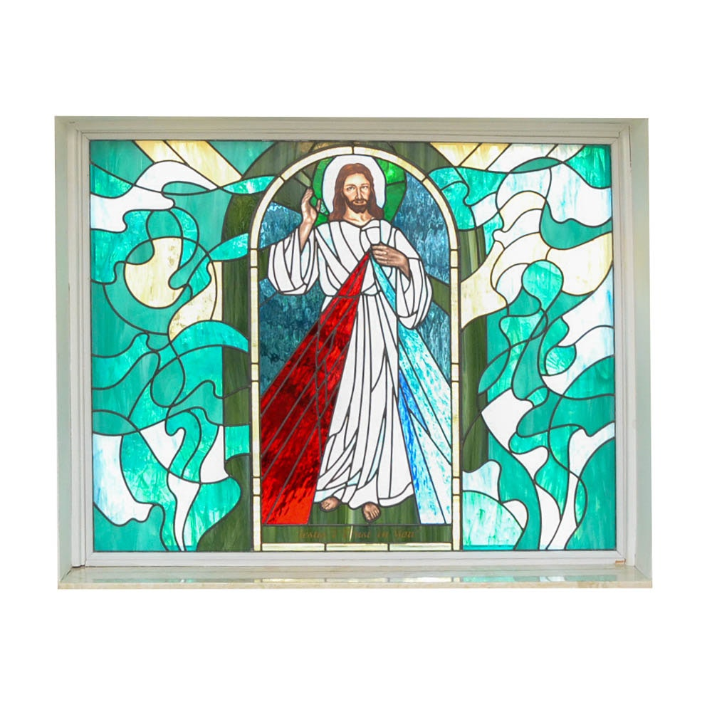 Stained Glass Window of Jesus