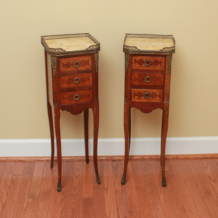 Pair of Louis XV Style Accent Tables