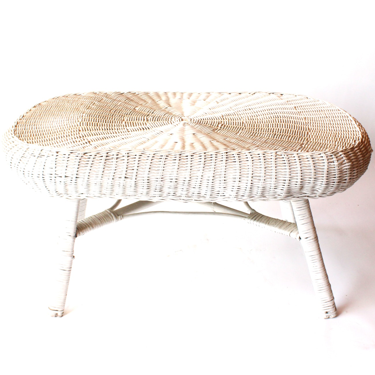 Painted Wicker Coffee Table