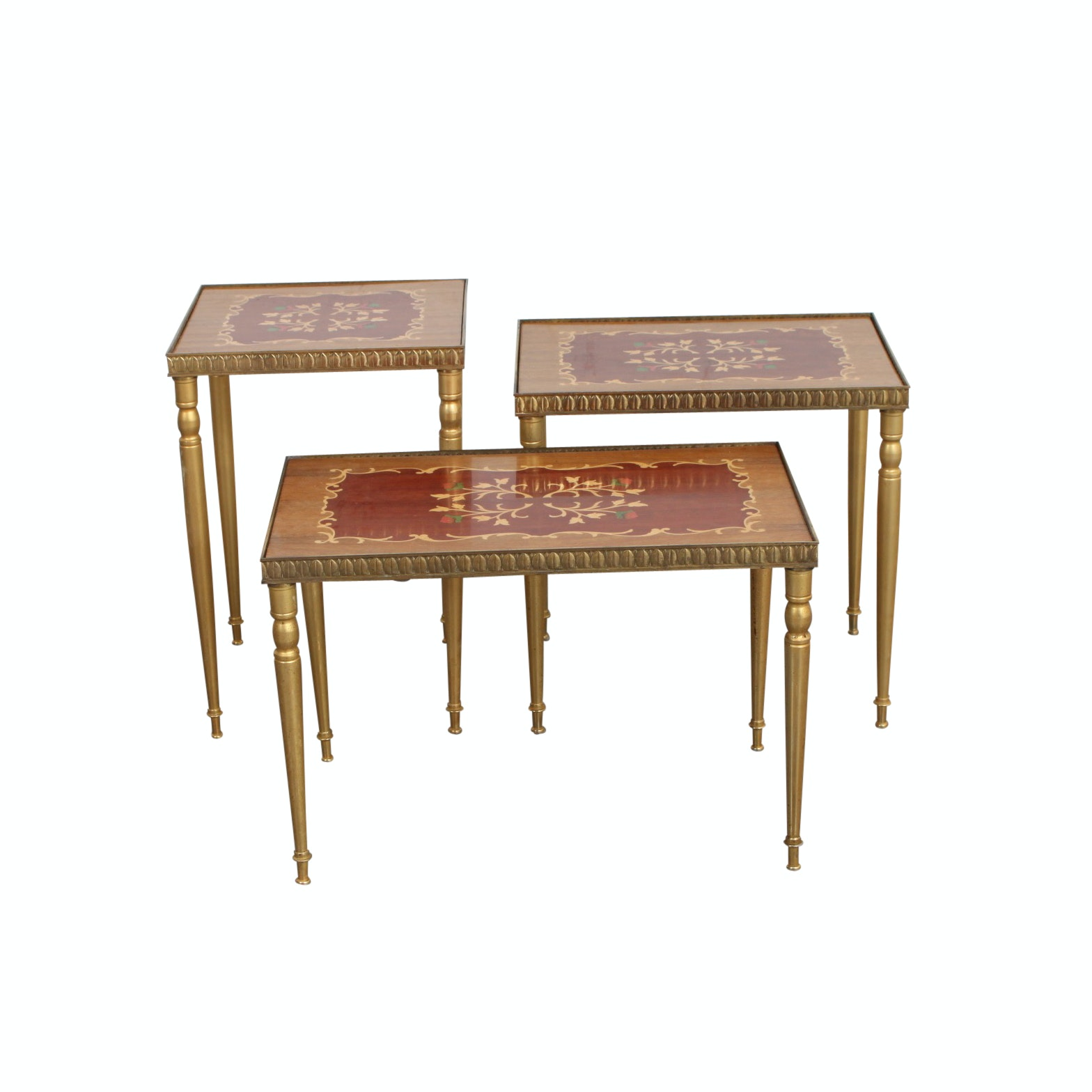 Three Italian Marquetry Inlaid Occasional Tables