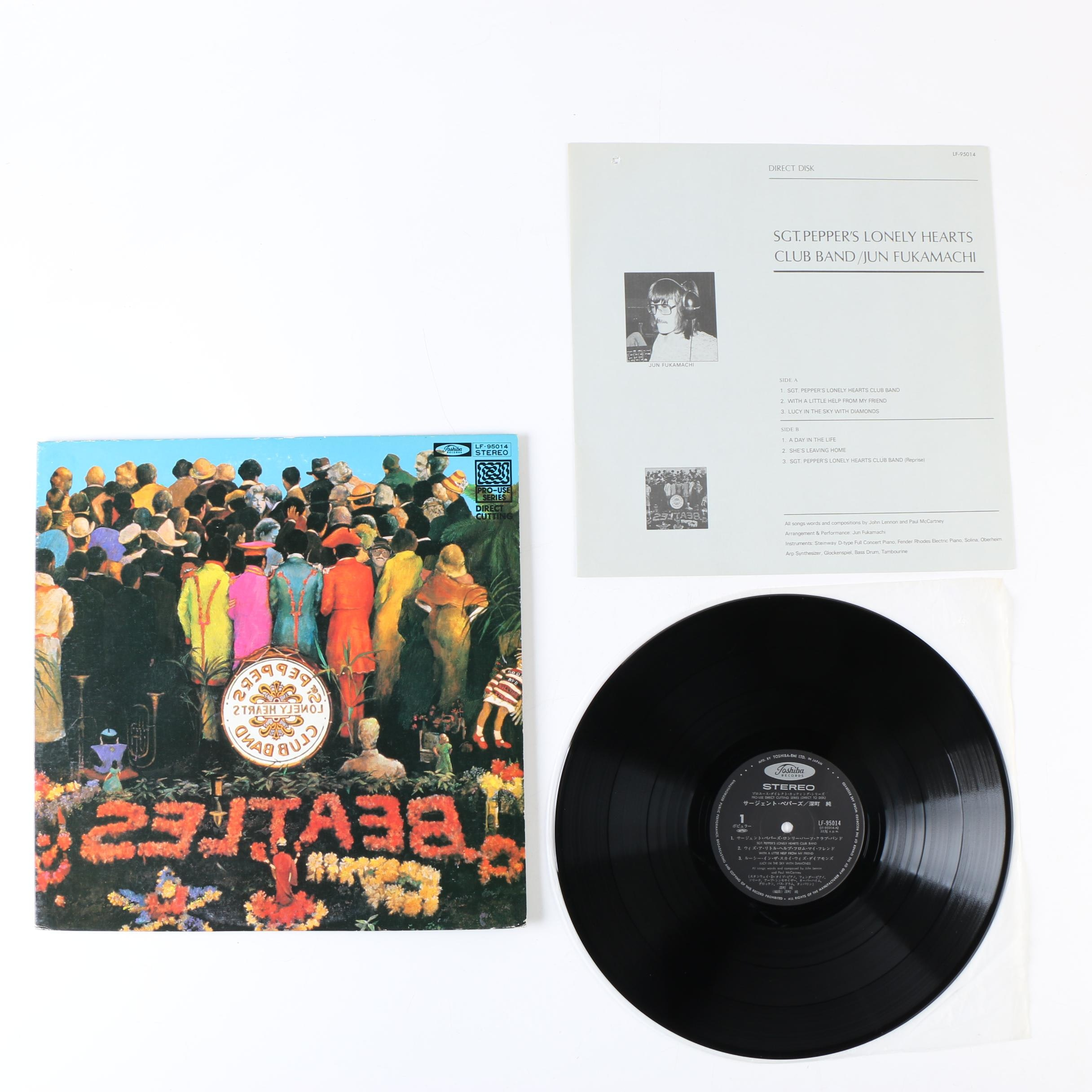 """Jun Fukamachi """"Sgt. Pepper"""" Direct Cutting Japanese Record Pressing"""
