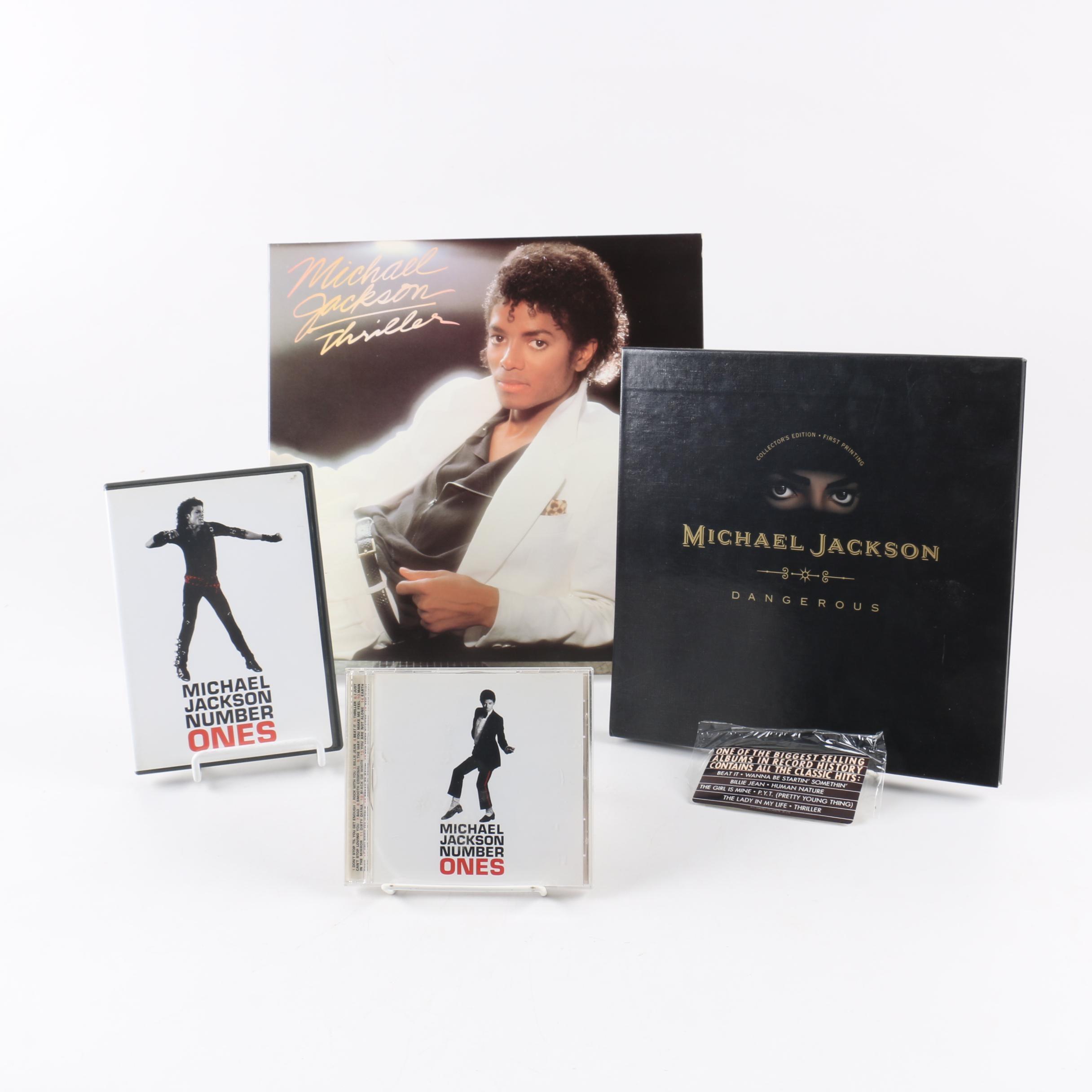 "Michael Jackson ""Thriller"" Record, ""Dangerous"" Pop-Up Box, ""Number Ones"" DVD/CD"