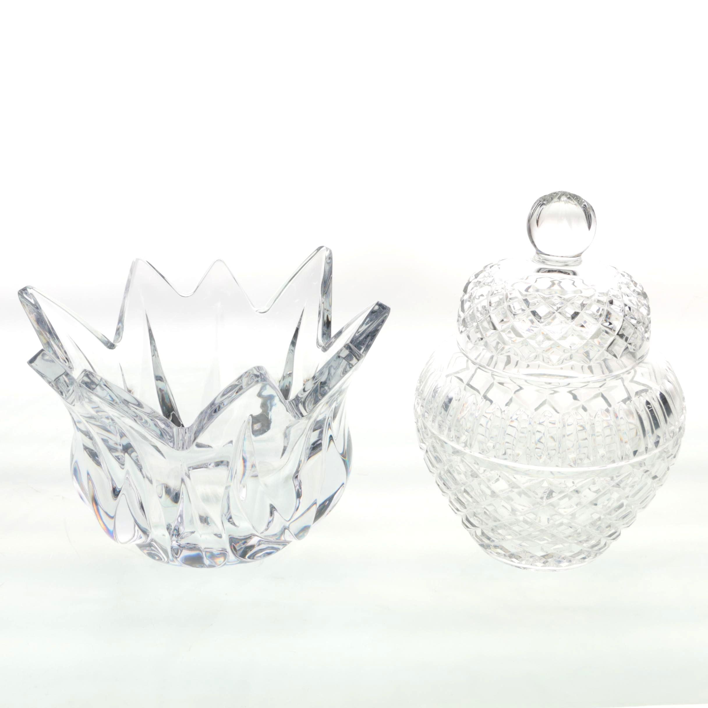 Crystal Jar and Bowl