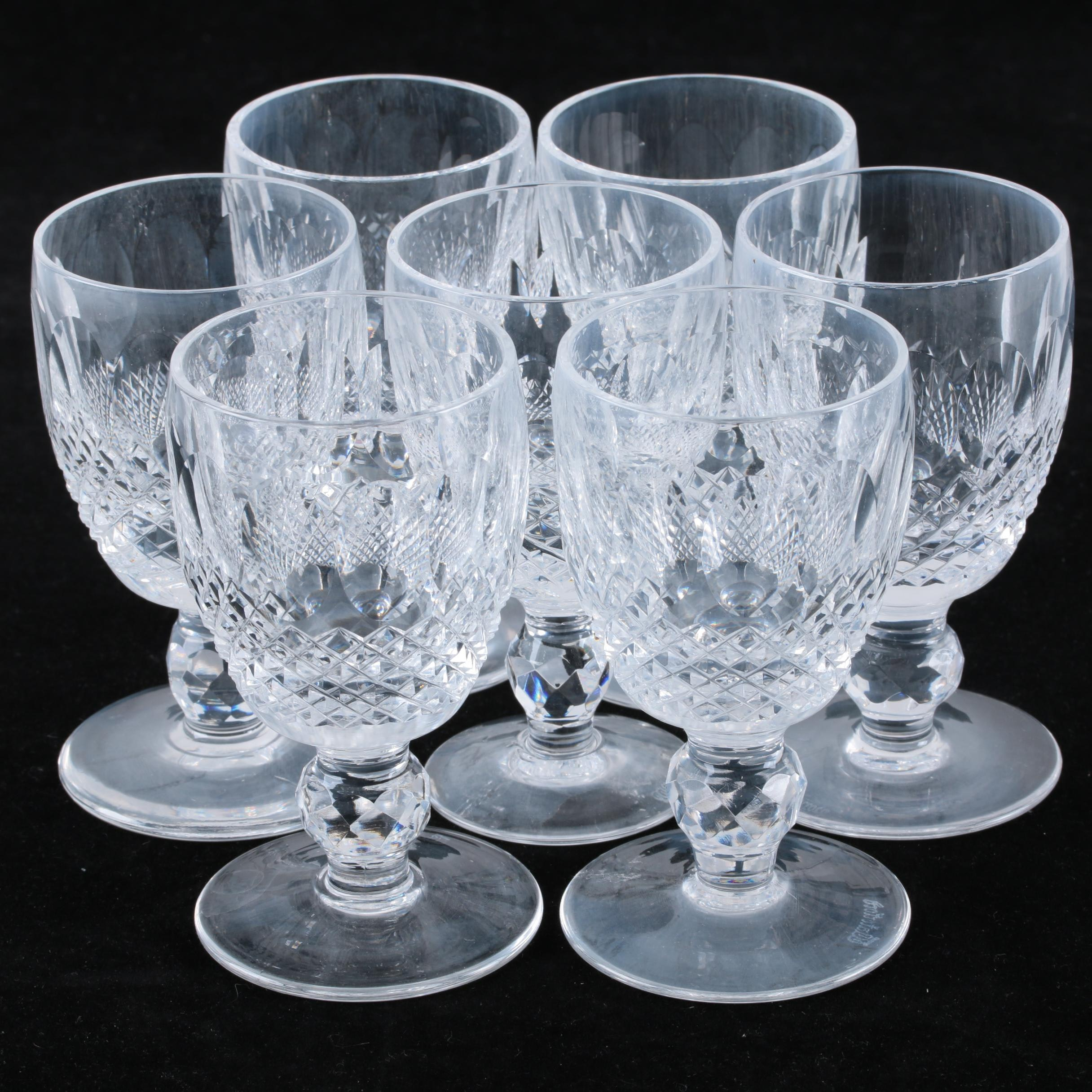 """Waterford Crystal """"Colleen"""" Port Glasses"""