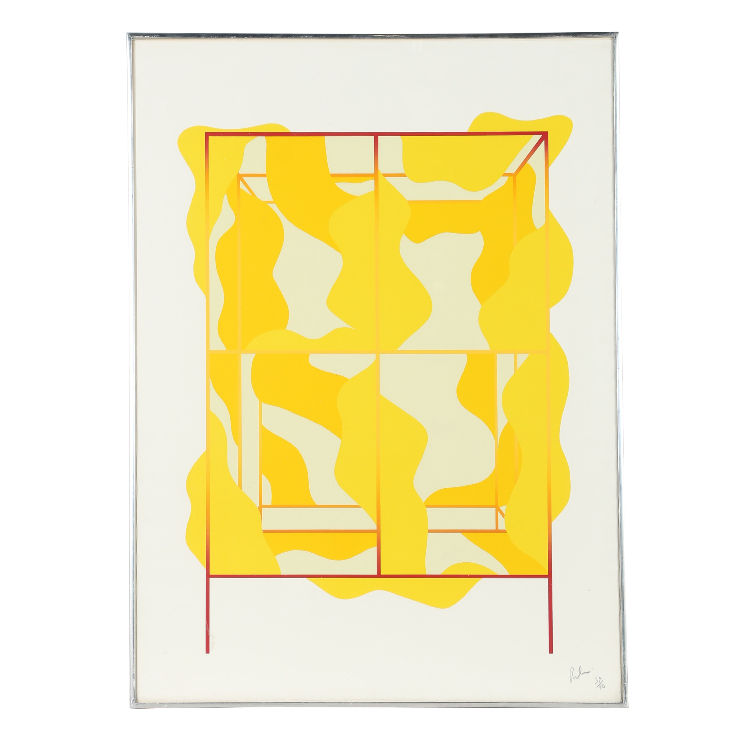 20th Century Limited Edition Abstract Serigraph
