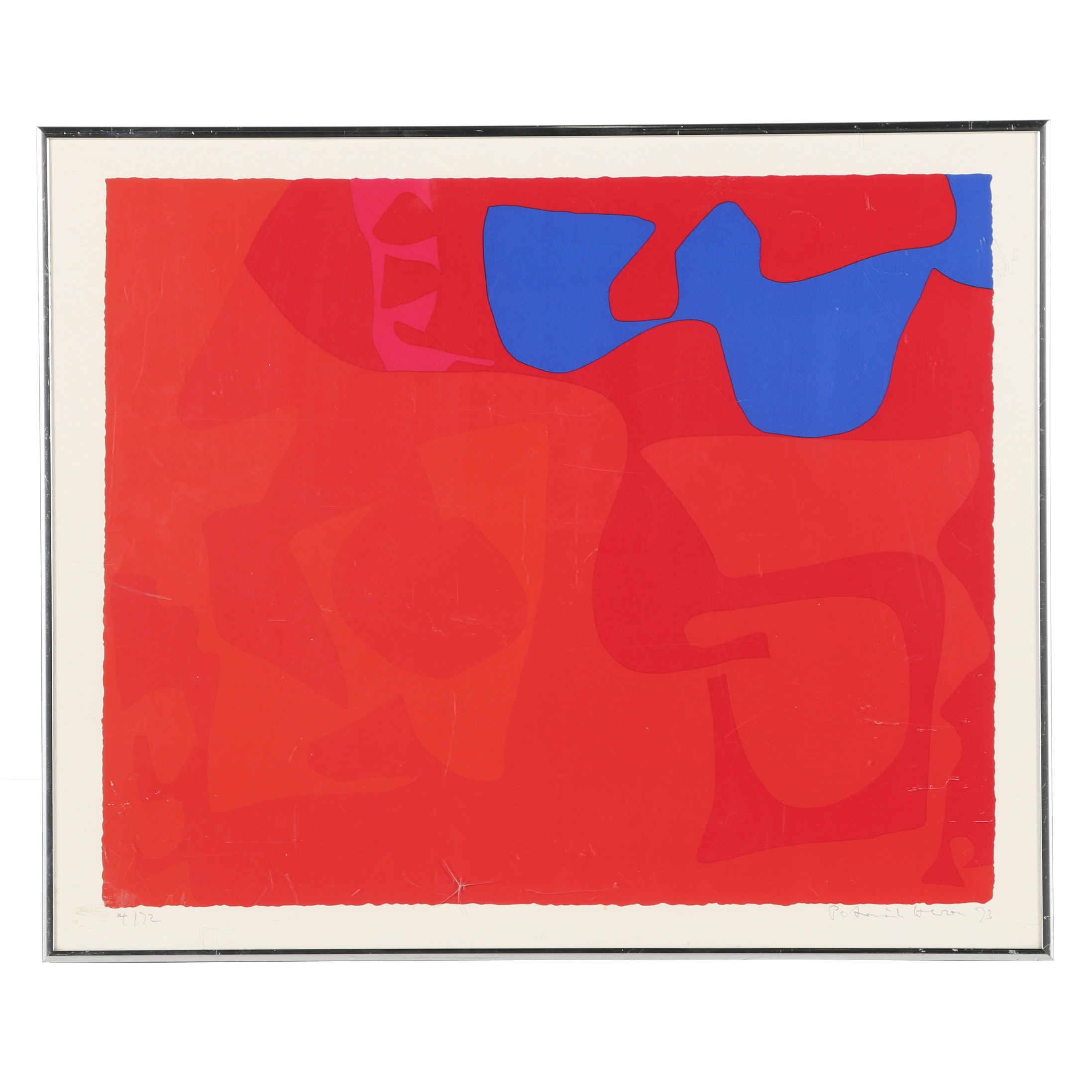 "Patrick Heron Limited Edition Serigraph ""Small Red"""
