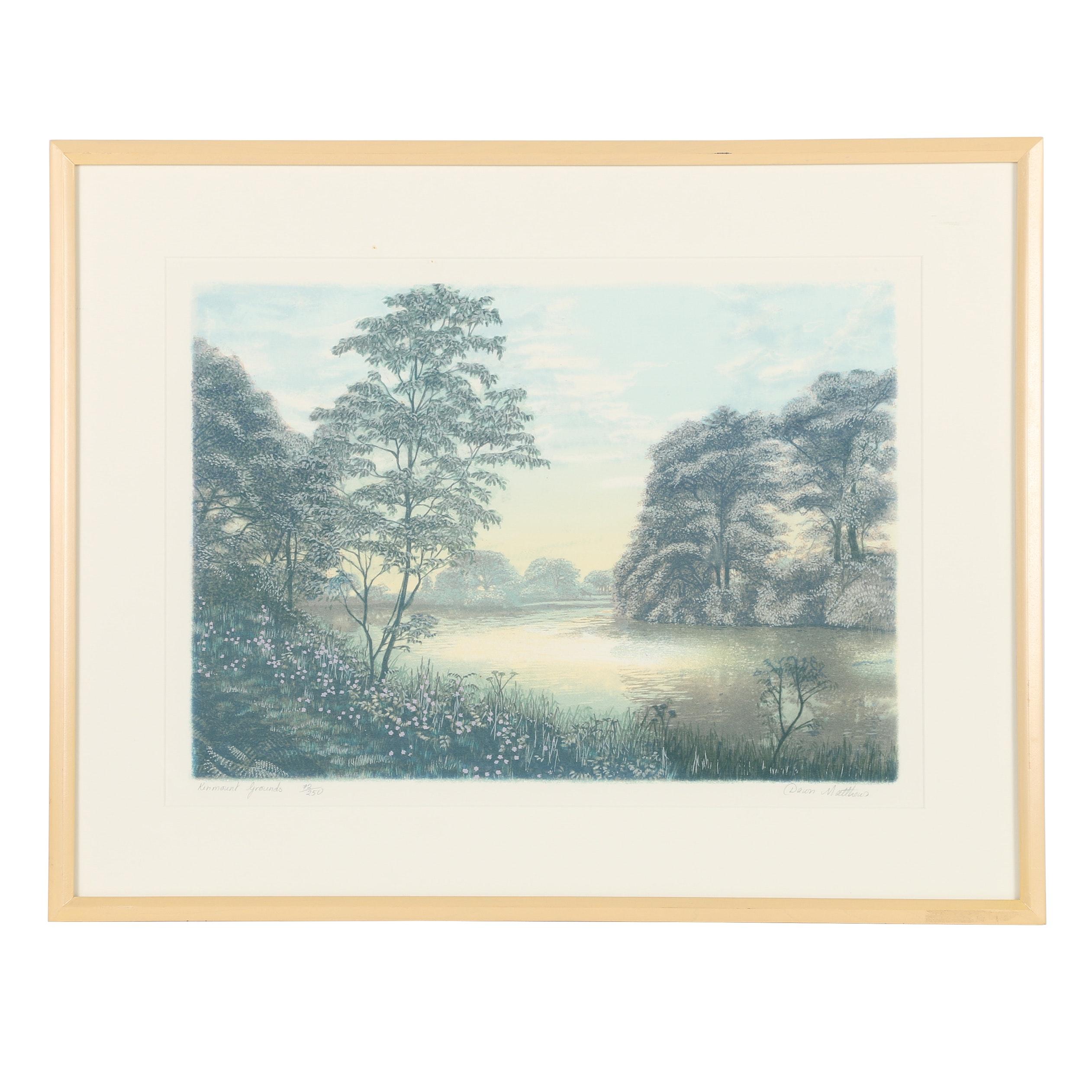 "Dawn Matthews Limited Edition Serigraph ""Kinmount Grounds"""