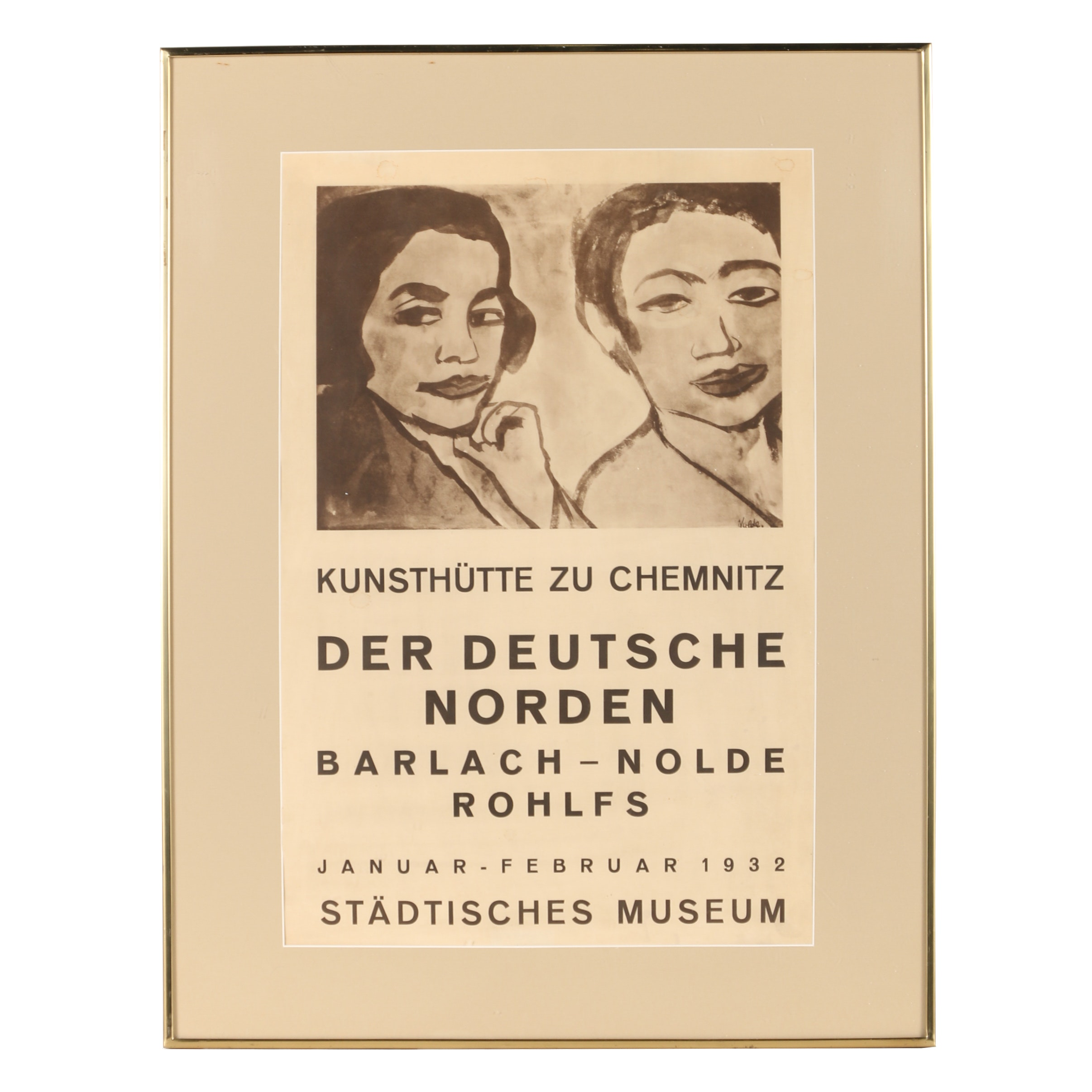 Early 20th Century Metzograph Exhibition Poster for Städtisches Museum