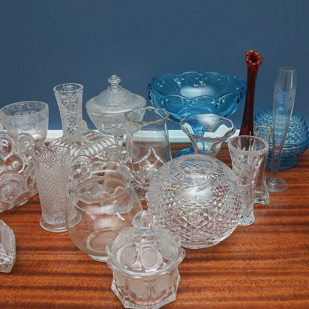 Glass and Crystal Including Waterford Crystal and Avon