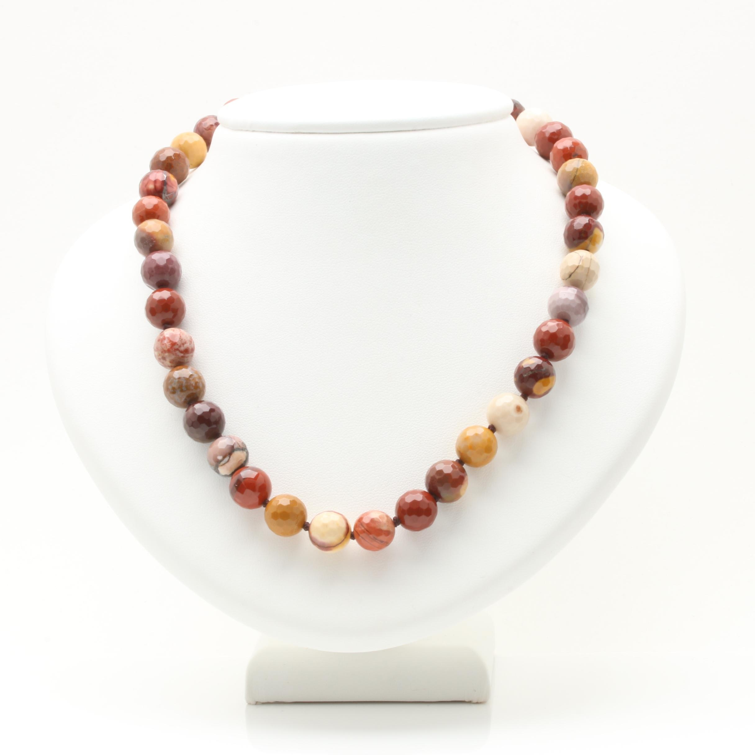 14K and 18K Yellow Gold Jasper Necklace