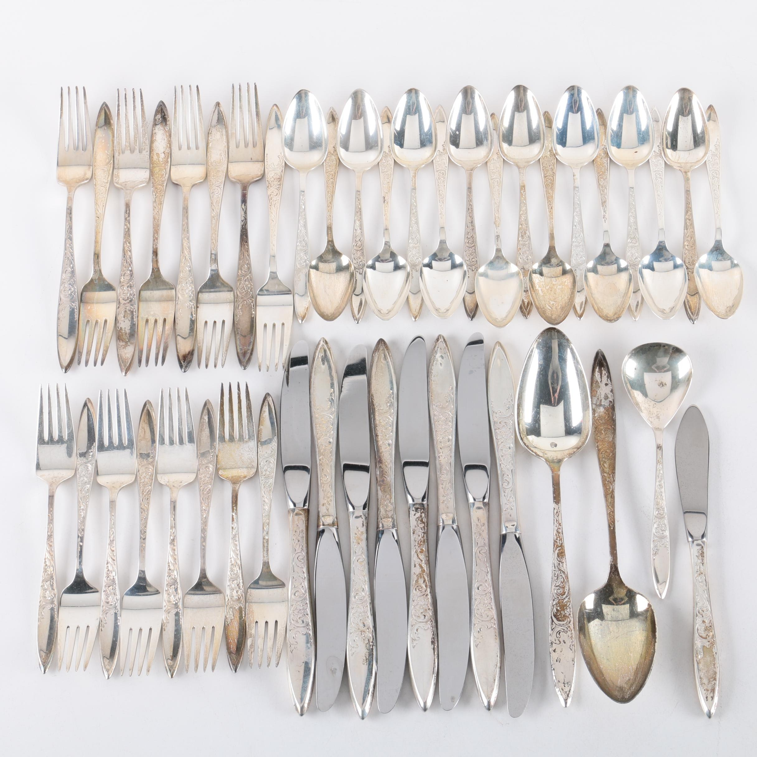 """Gorham """"White Paisley"""" Sterling Silver Flatware Collection"""