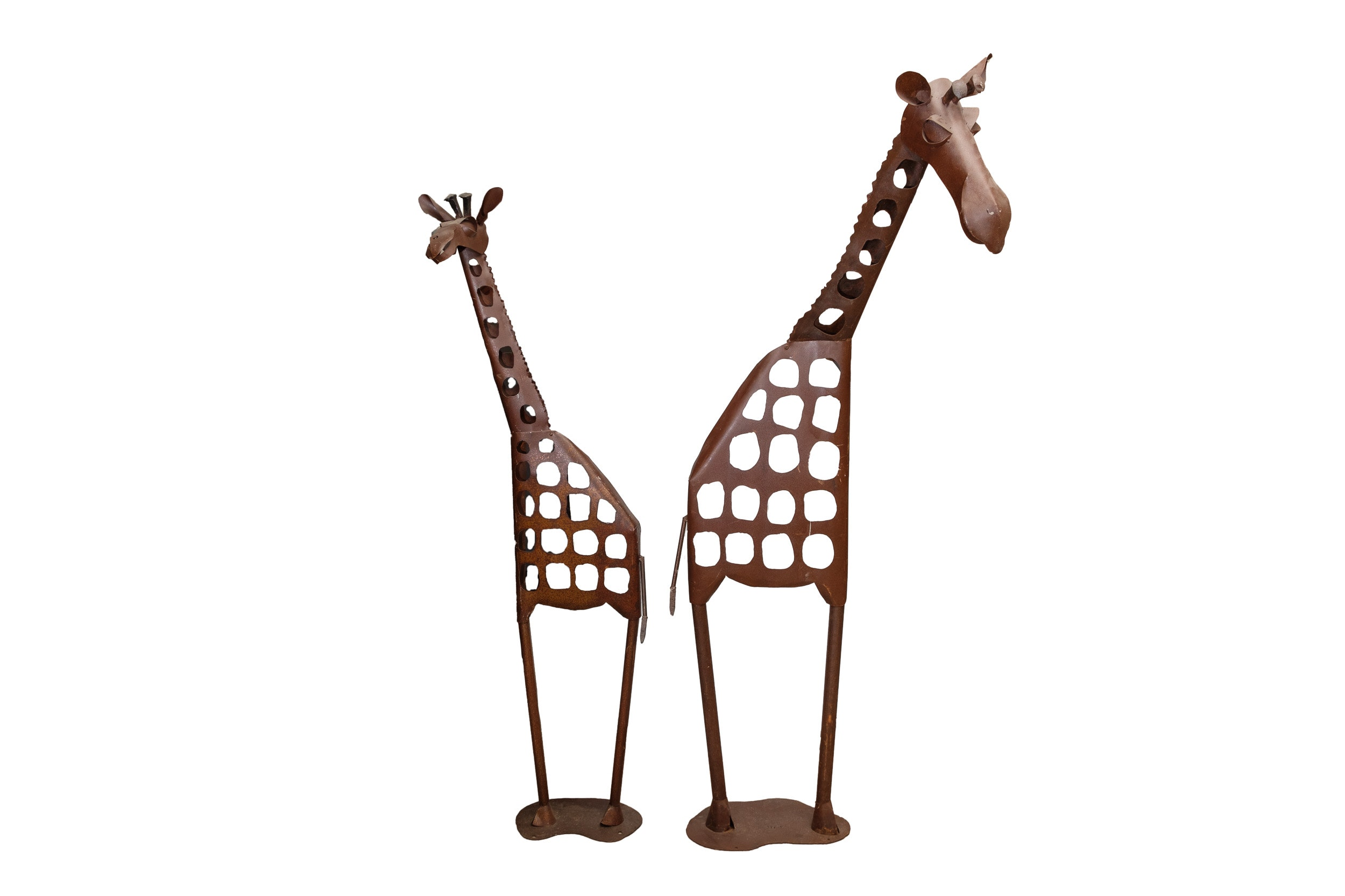 Large Metal Giraffes