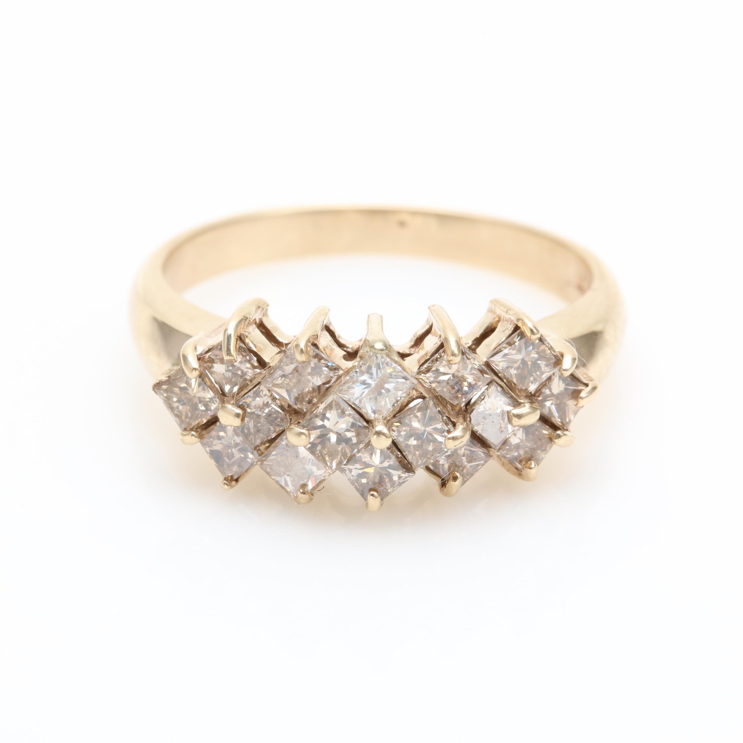 10K Yellow Gold 1.28 CTW Diamond Ring
