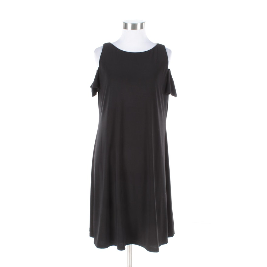 3960206036 Lauren Ralph Lauren Black Cold Shoulder Shift Dress   EBTH