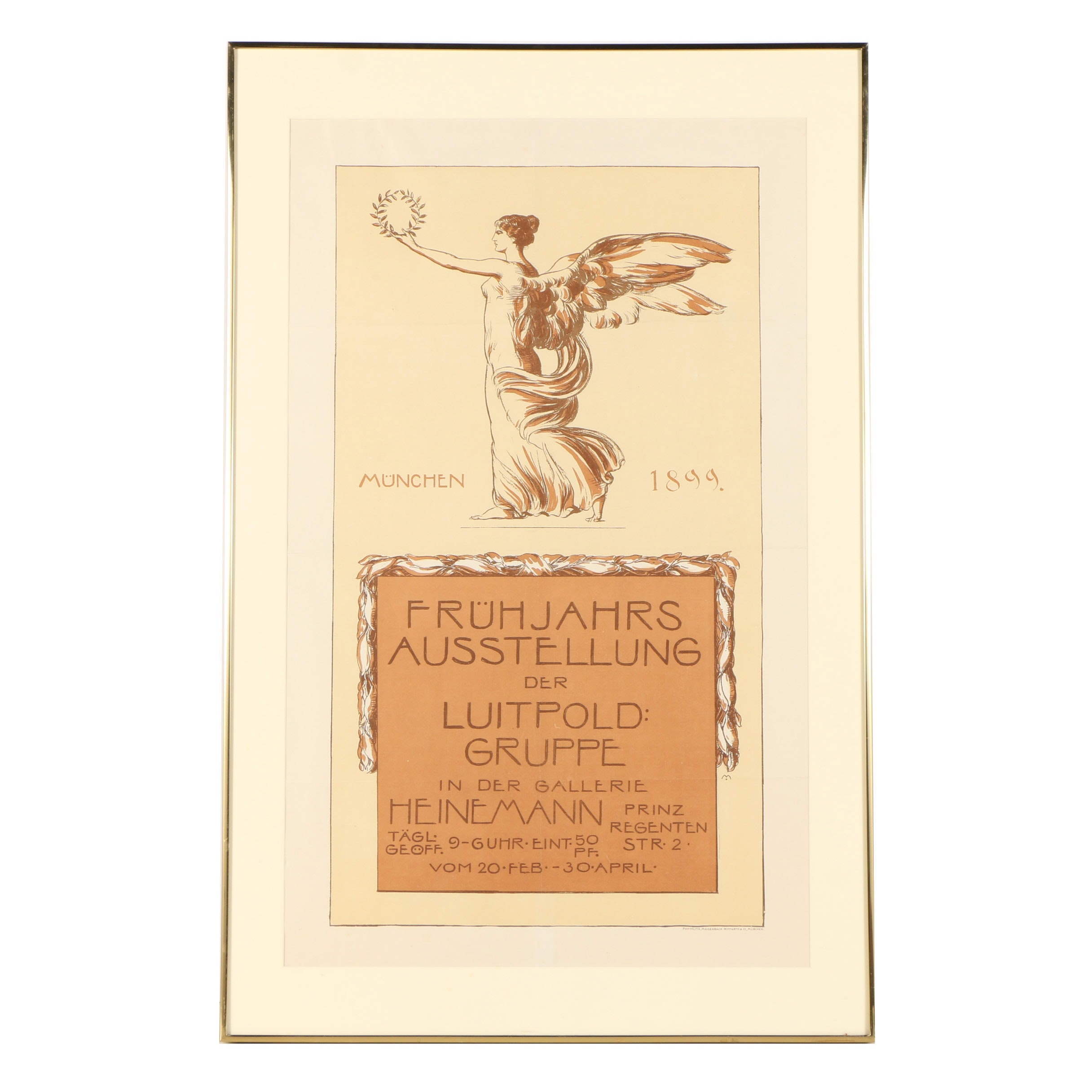 """Lithograph Exhibition Poster """"Luitpold: Gruppe Gallerie Hermann"""""""