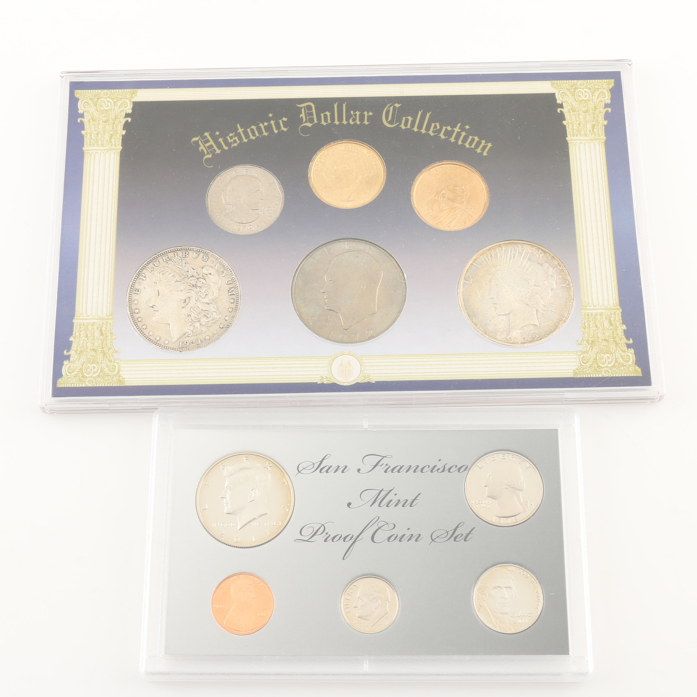 """""""Historic Dollar Collection"""" and a San Francisco Mint Proof Coin Set"""