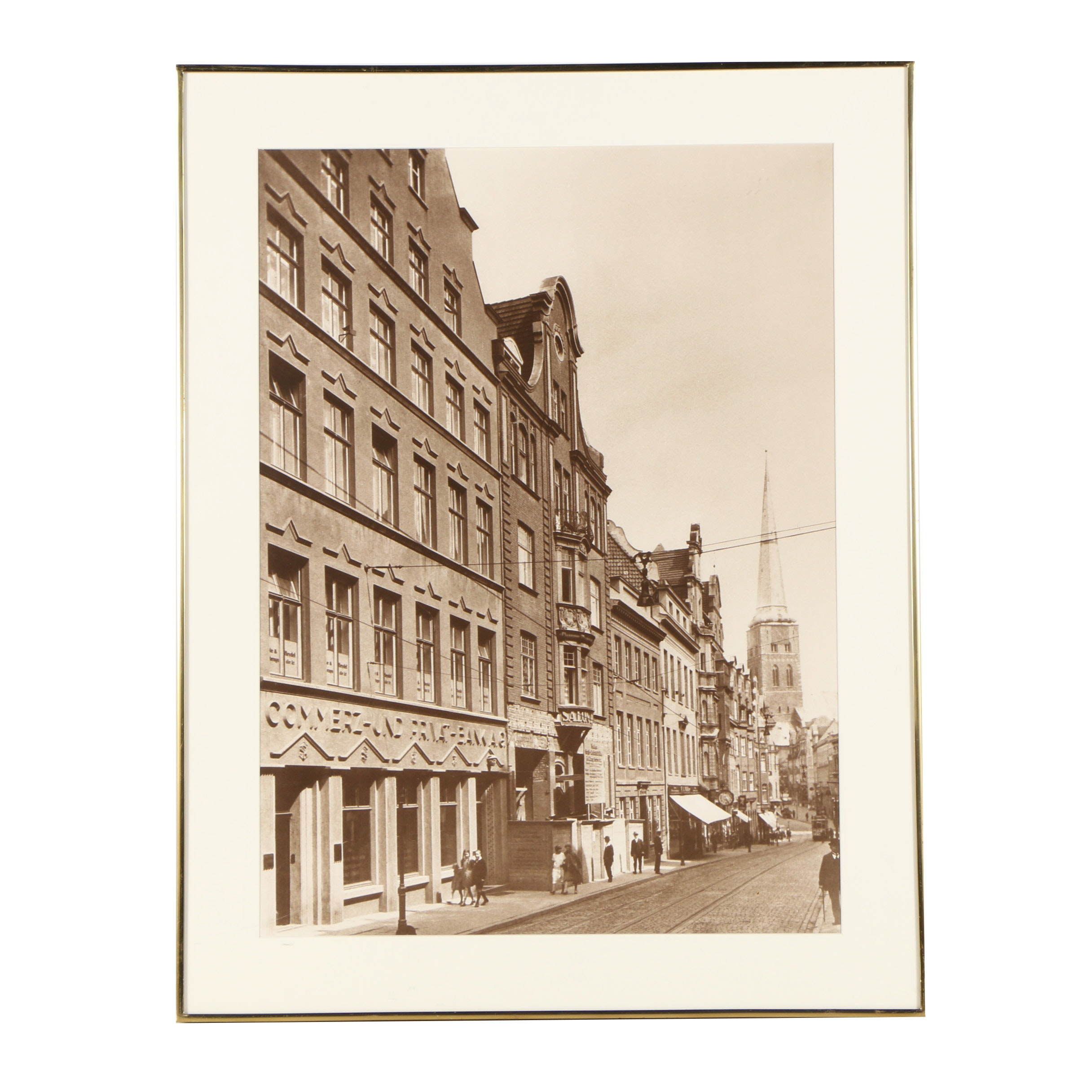 Digital Photograph After Early 20th Century Street Scene