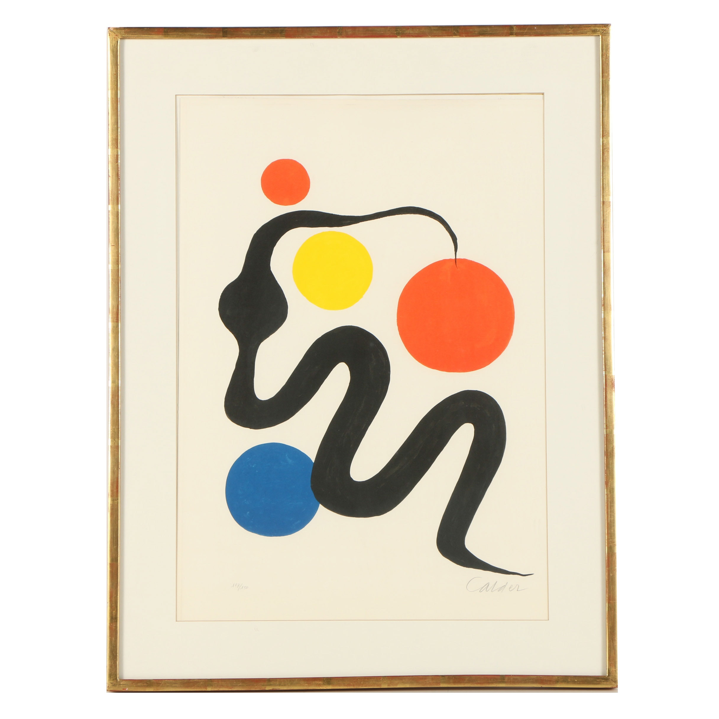 "Alexander Calder Limited Edition Lithograph ""Serpent"""
