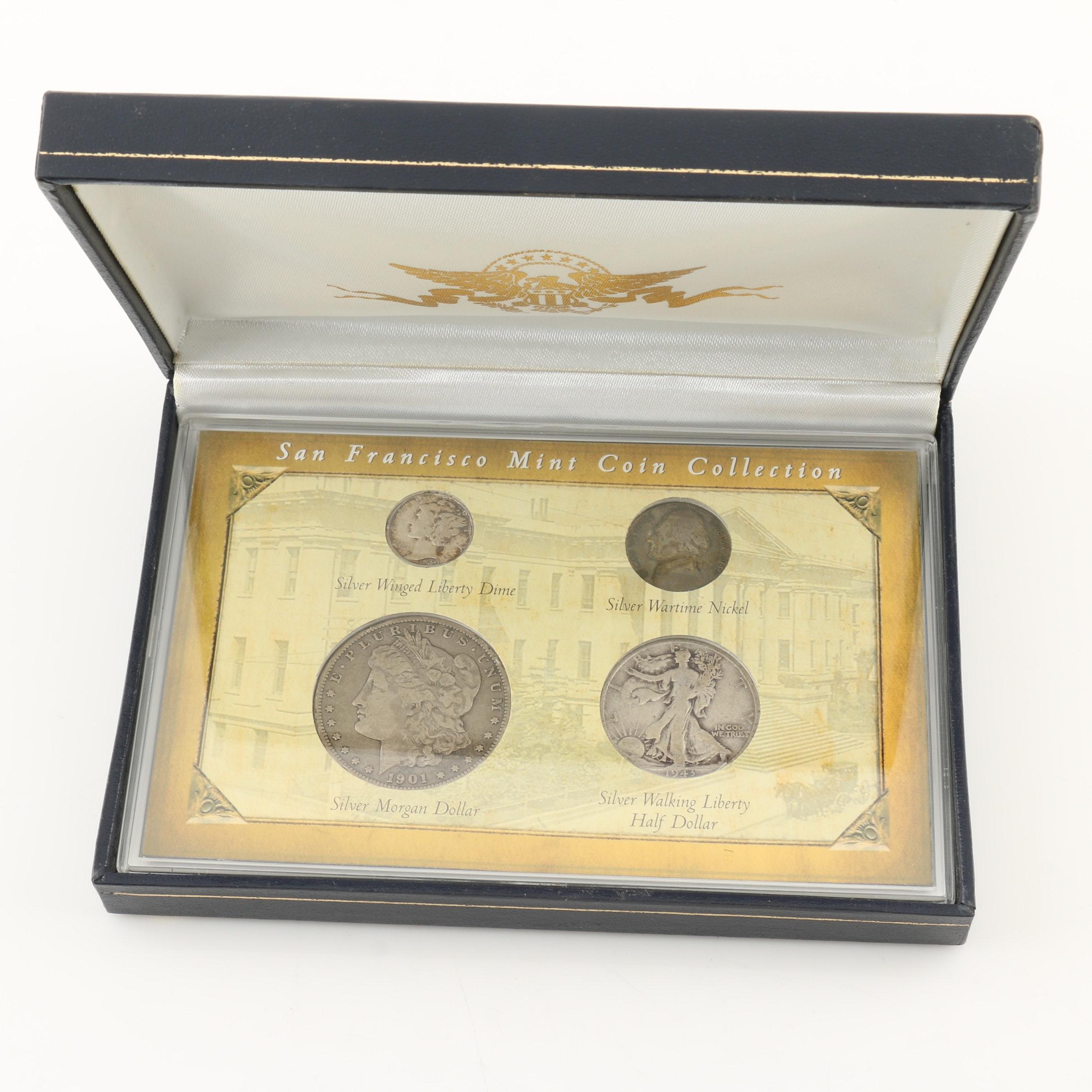 """San Francisco Mint Coin Collection"" U.S. Silver Coin Set"